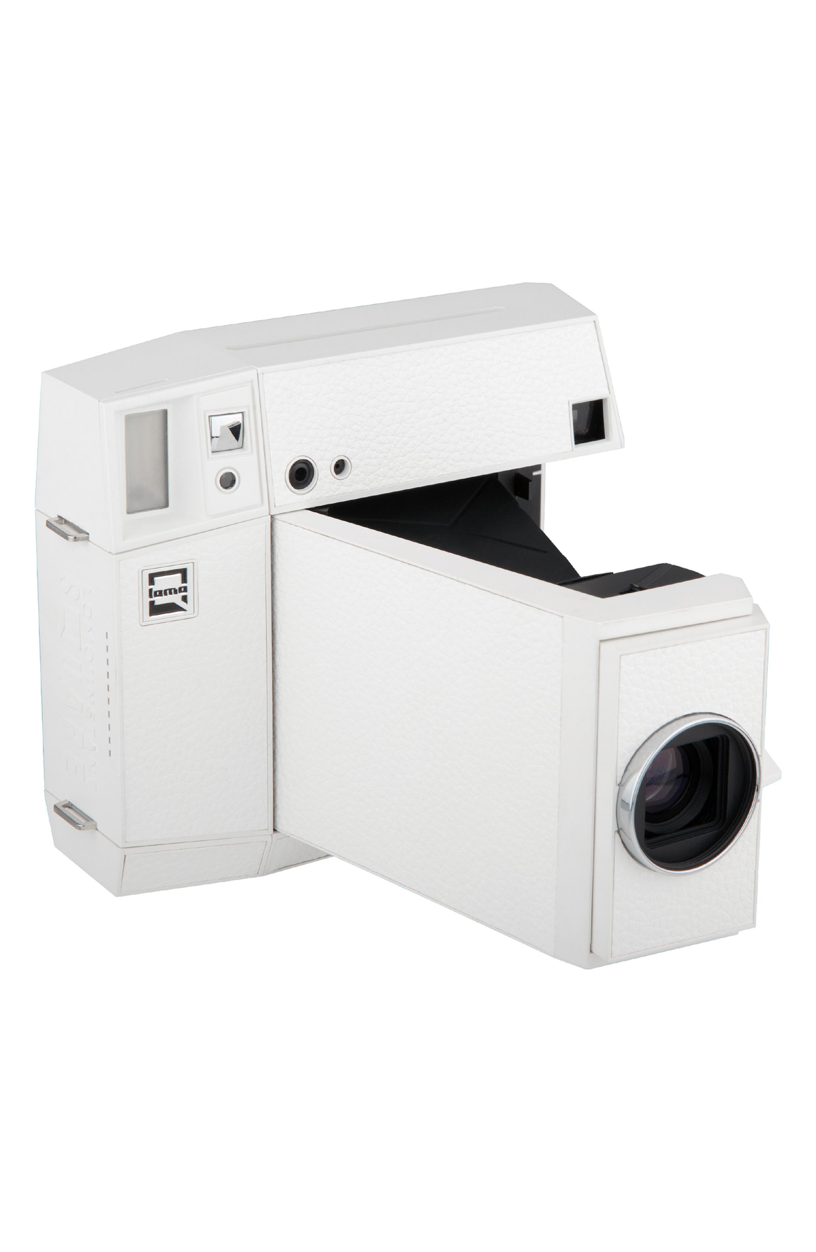 Lomo'Instant Square Glass Black Edition Instant Camera,                             Alternate thumbnail 3, color,                             WHITE