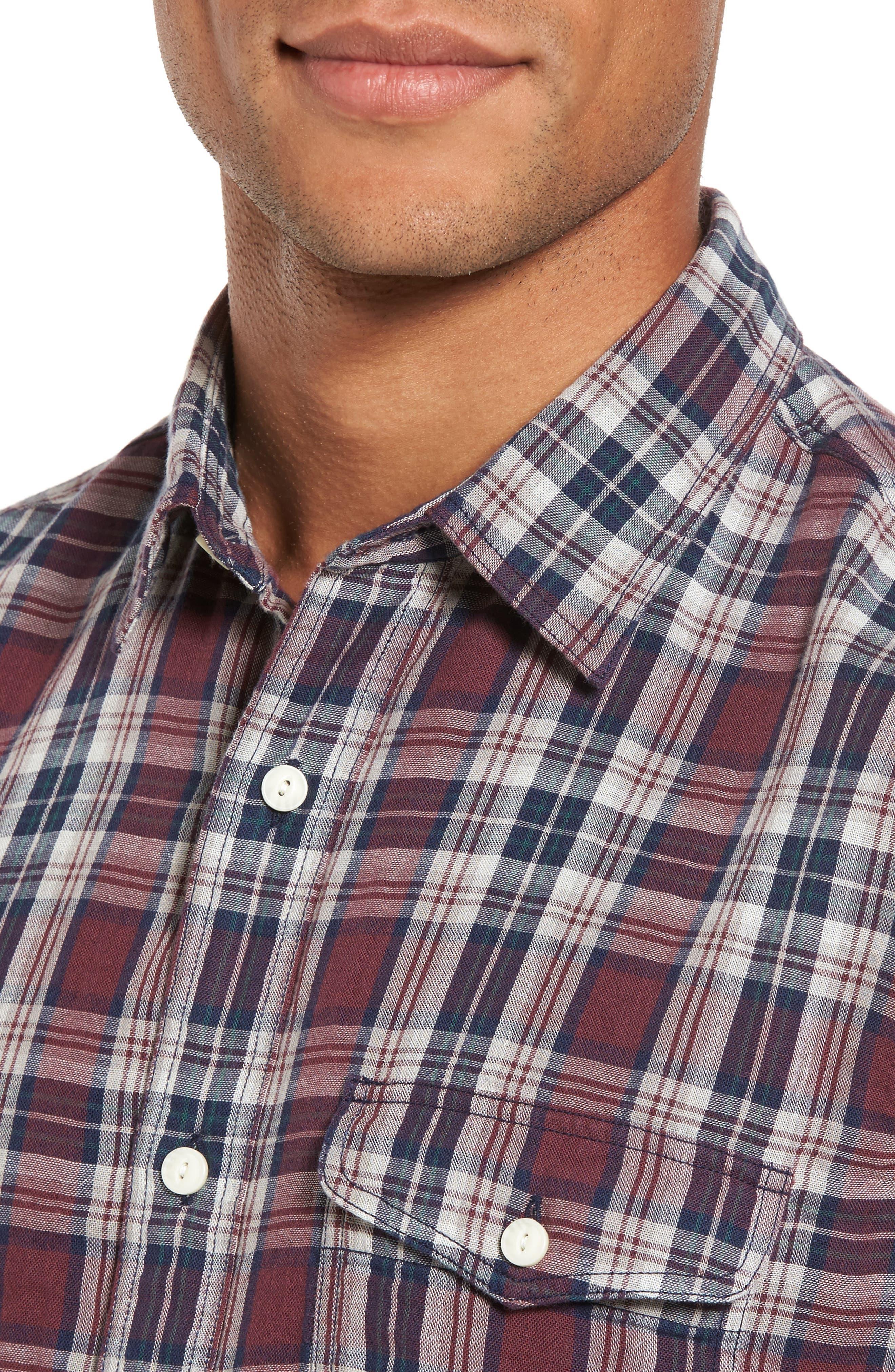 Lumber Duofold Slim Fit Plaid Shirt,                             Alternate thumbnail 4, color,                             938