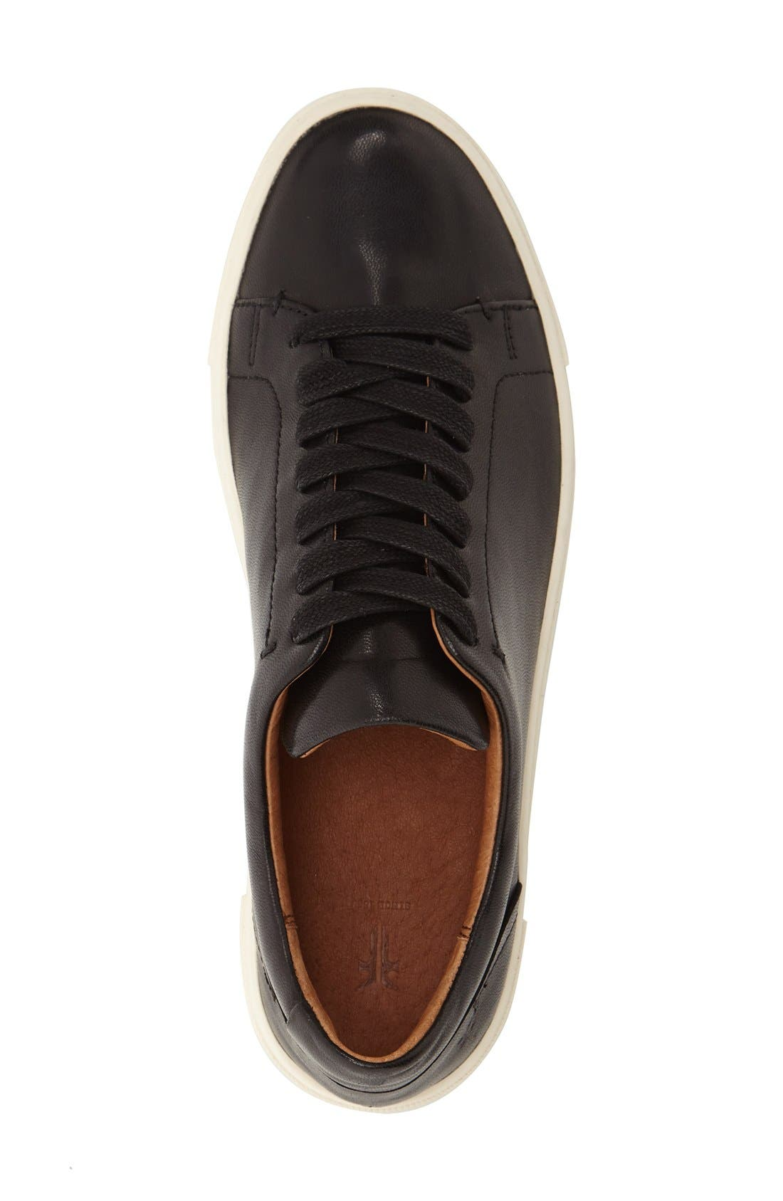 FRYE,                             Ivy Sneaker,                             Alternate thumbnail 3, color,                             BLACK LEATHER