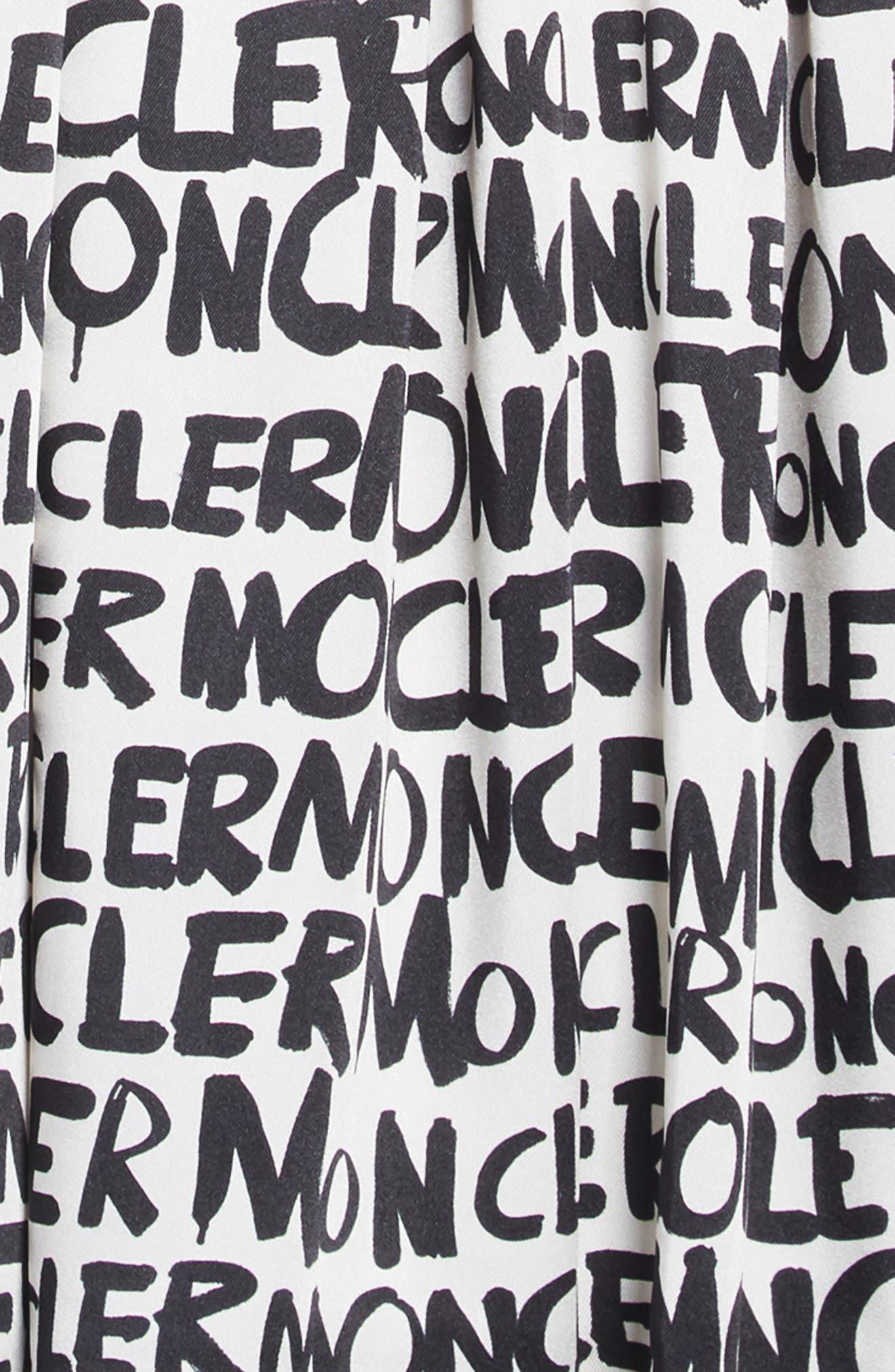 MONCLER,                             Abito Sleeveless Dress,                             Alternate thumbnail 3, color,                             NATURAL