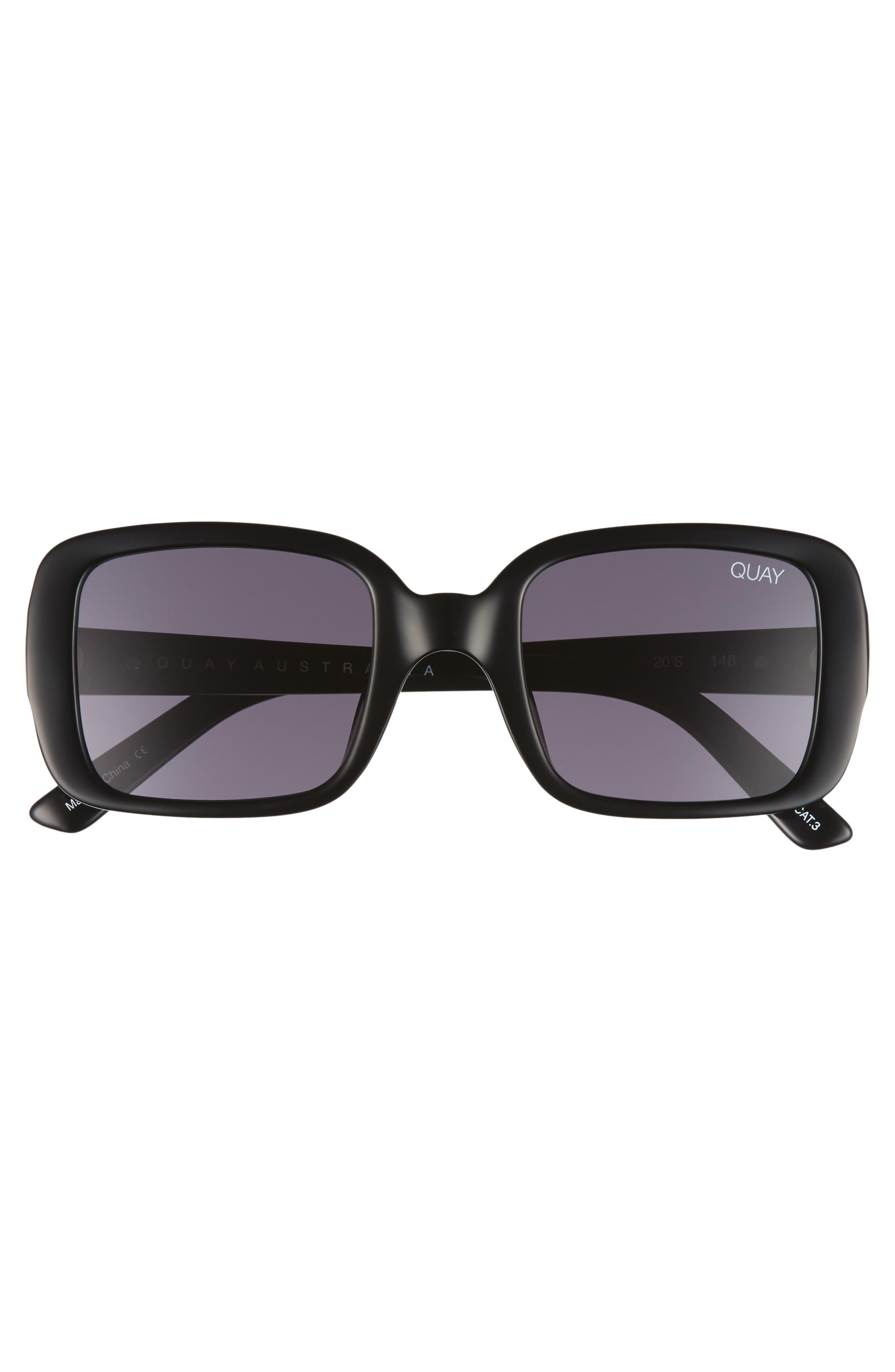'20s 54mm Square Sunglasses,                             Alternate thumbnail 3, color,                             001