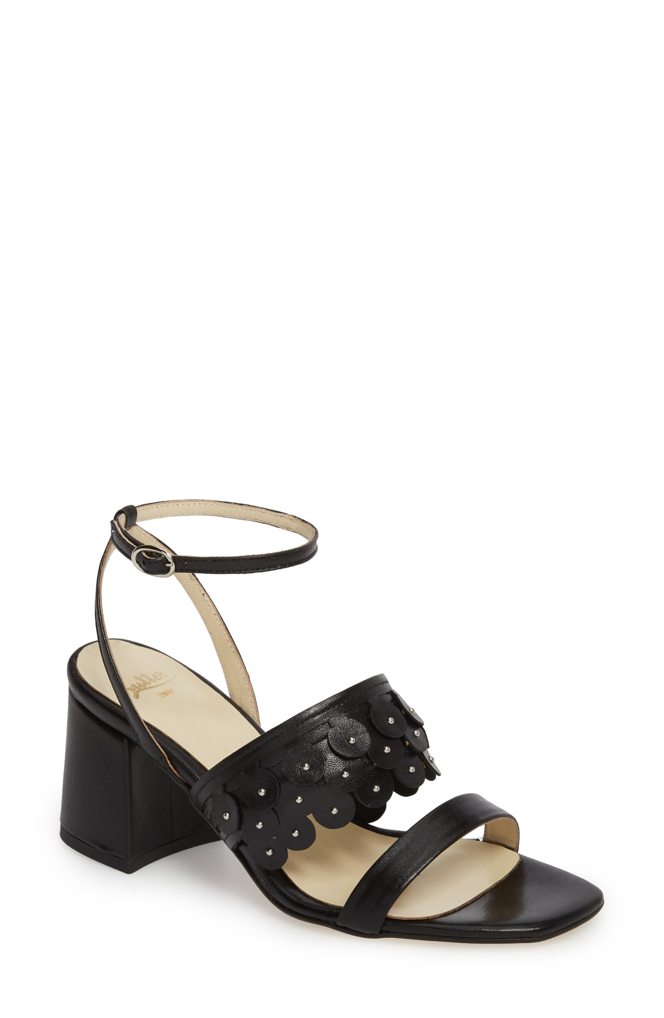 Butter Finley Studded Ankle Strap Sandal,                             Main thumbnail 1, color,