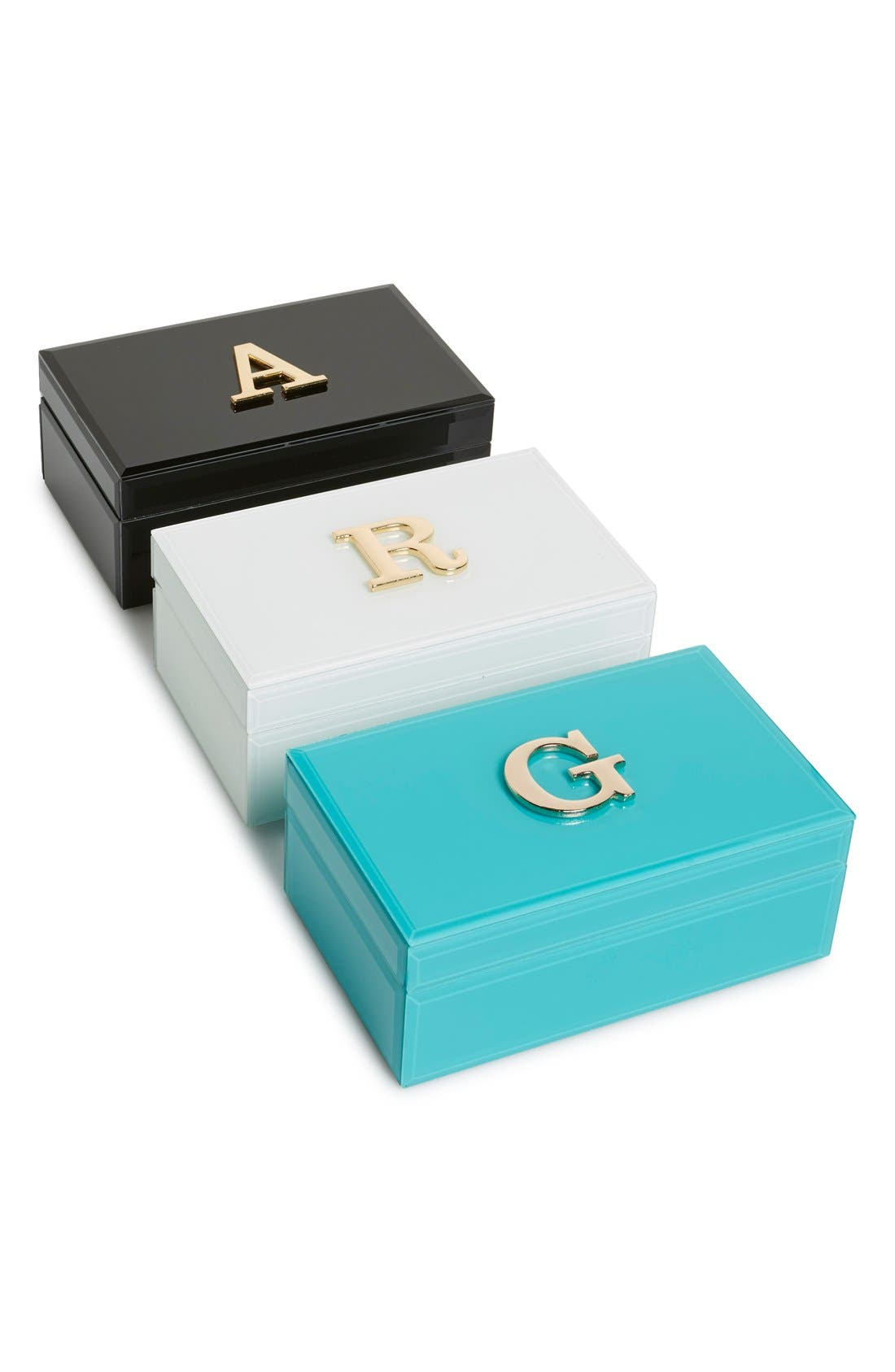 Monogram Jewelry Box,                             Alternate thumbnail 2, color,                             001