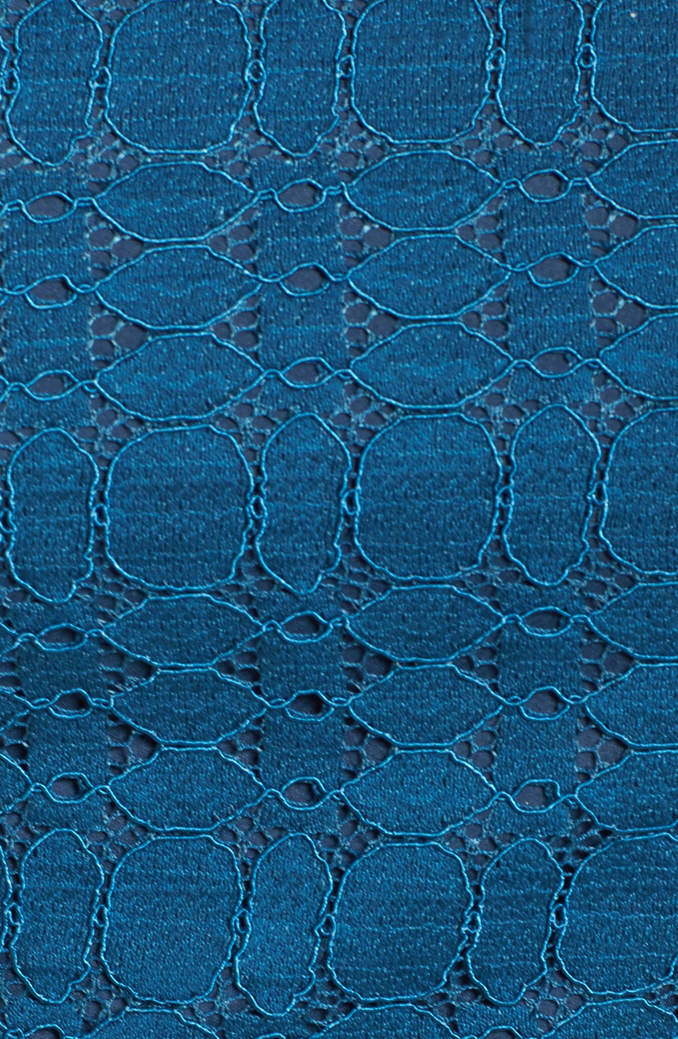Ruffle Lace Sheath Dress,                             Alternate thumbnail 5, color,                             458