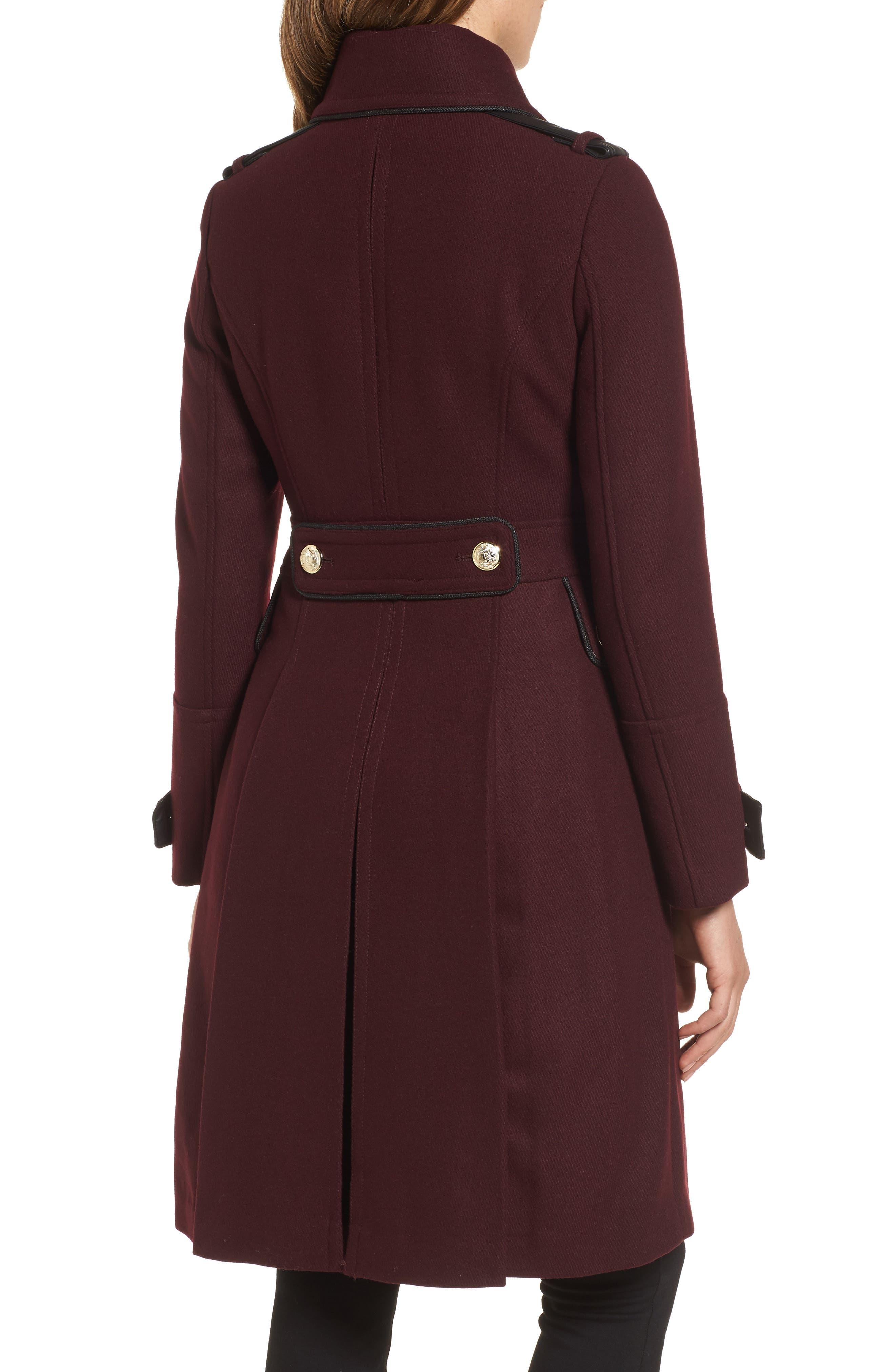 Wool Blend Military Coat,                             Alternate thumbnail 4, color,