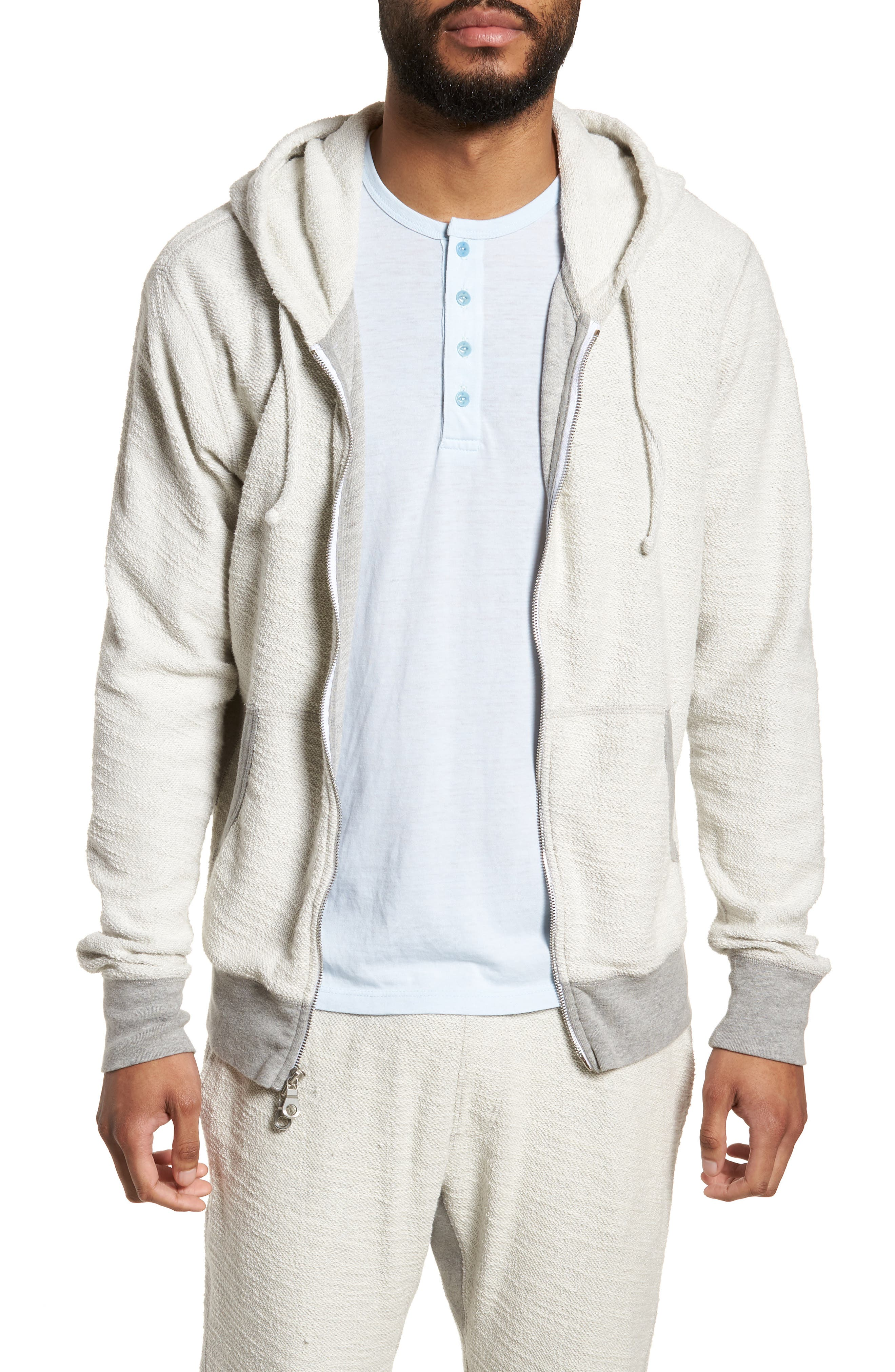 Terrycloth Cotton Blend Zip Hoodie,                             Main thumbnail 2, color,