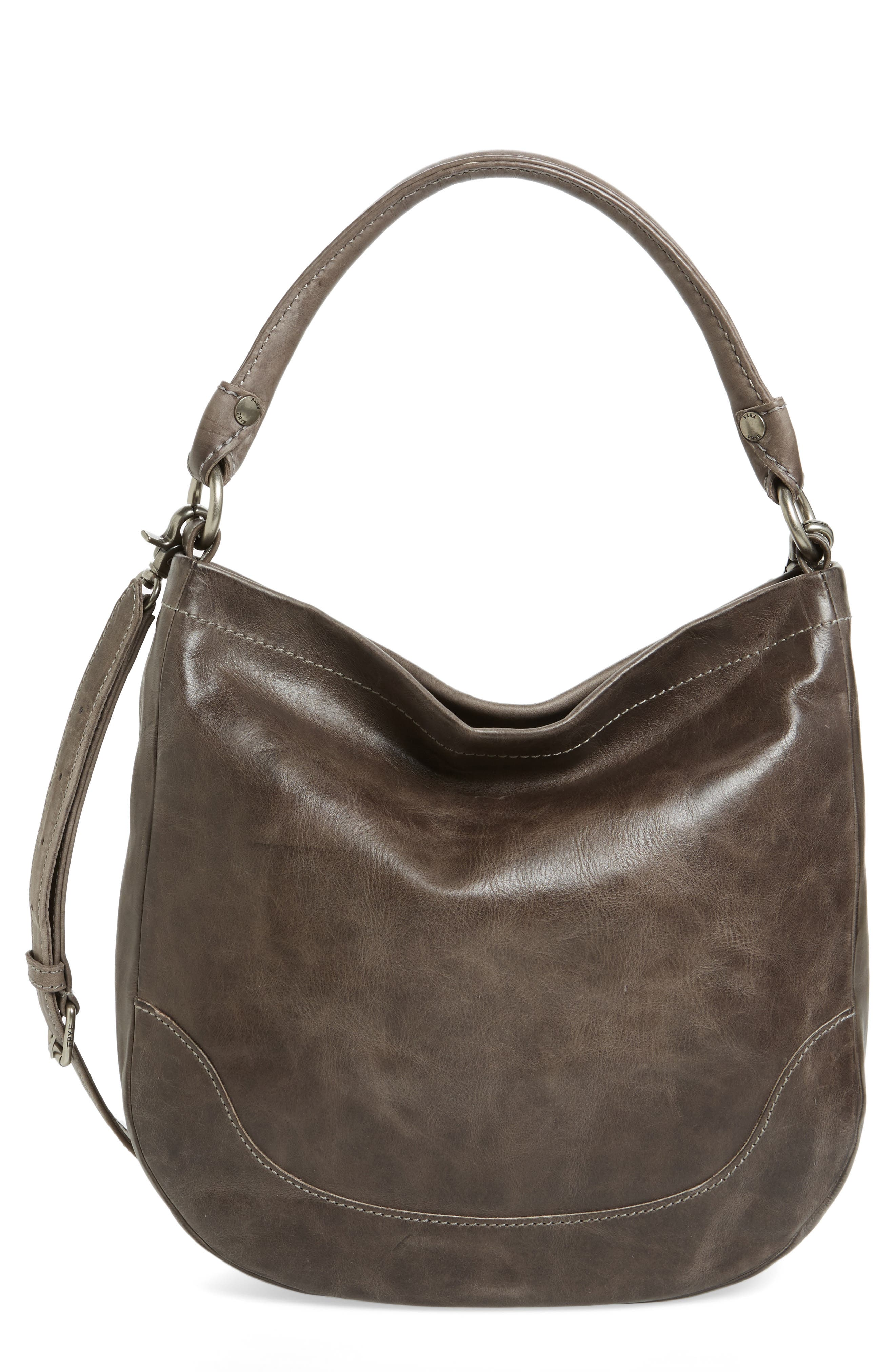 Melissa Leather Hobo,                         Main,                         color, ICE