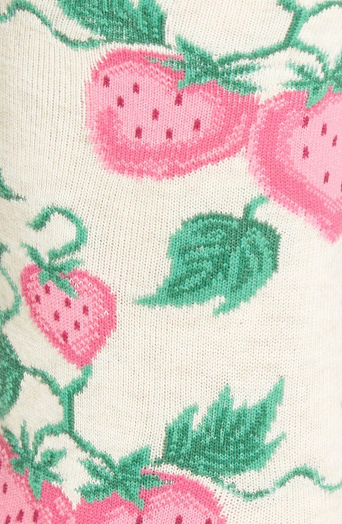 'Strawberries' Socks,                             Alternate thumbnail 5, color,