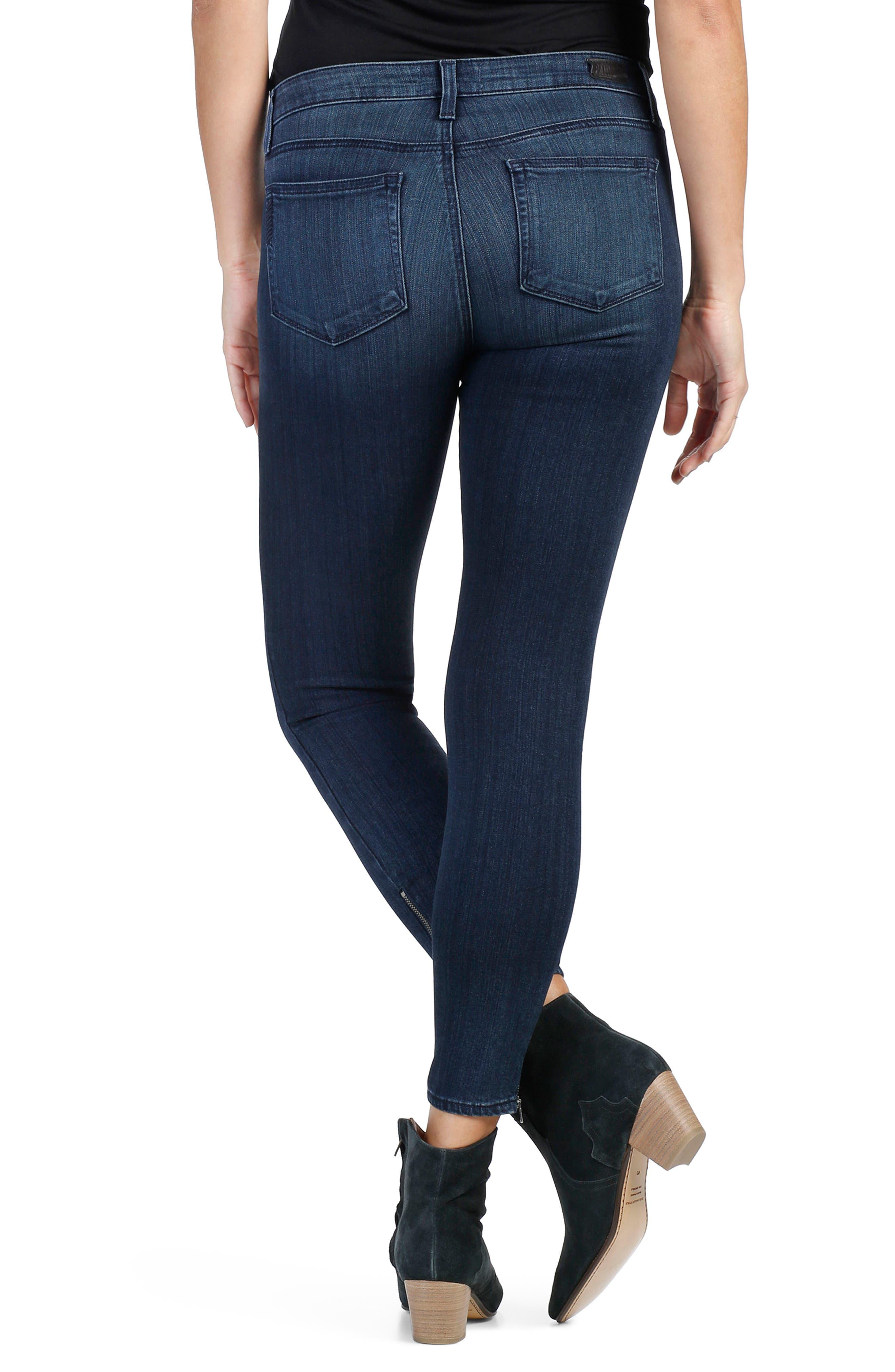 Transcend - Jane Zip Crop Skinny Jeans,                             Alternate thumbnail 2, color,                             400