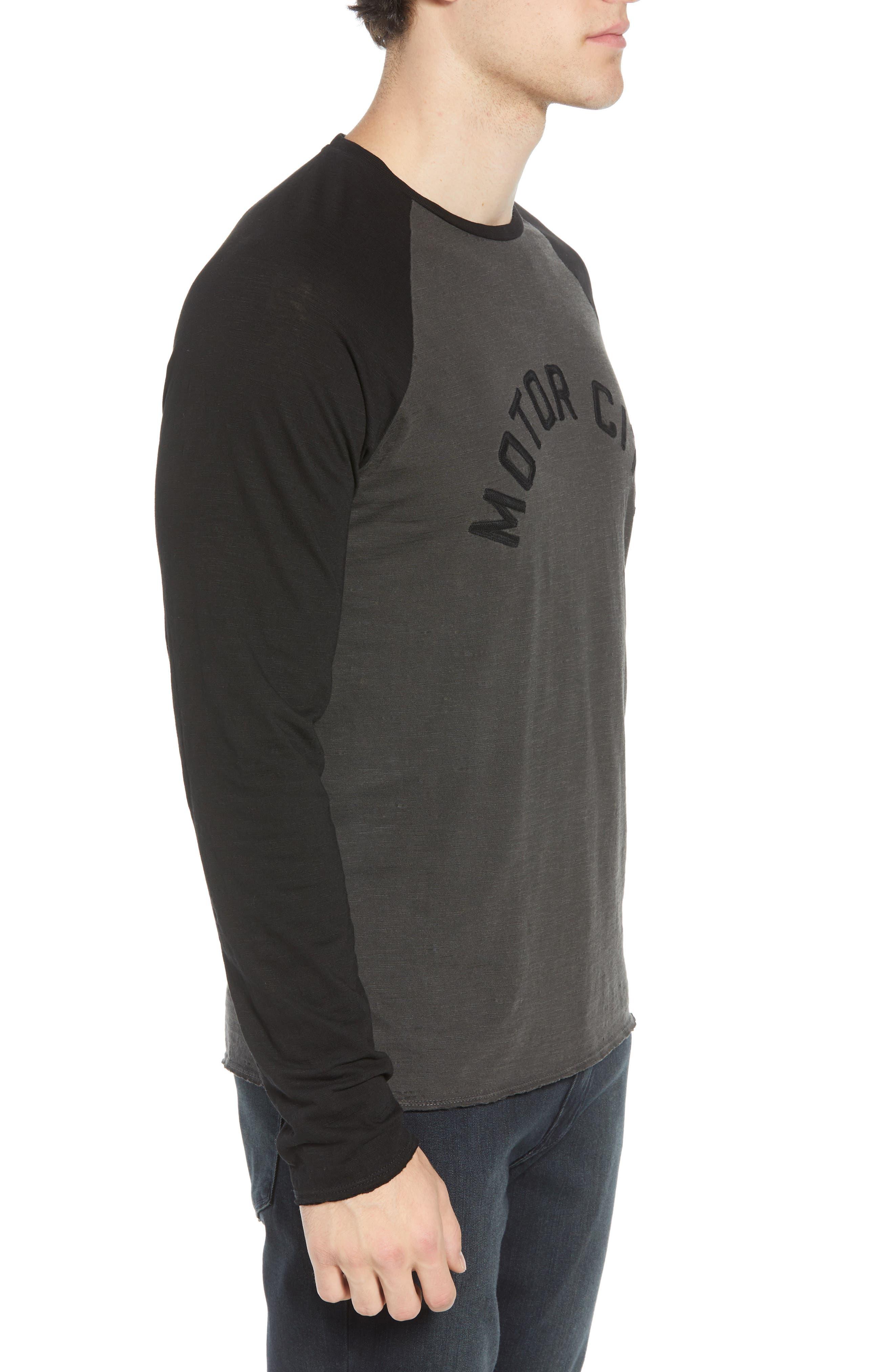Motor City Long Sleeve T-Shirt,                             Alternate thumbnail 3, color,                             COAL