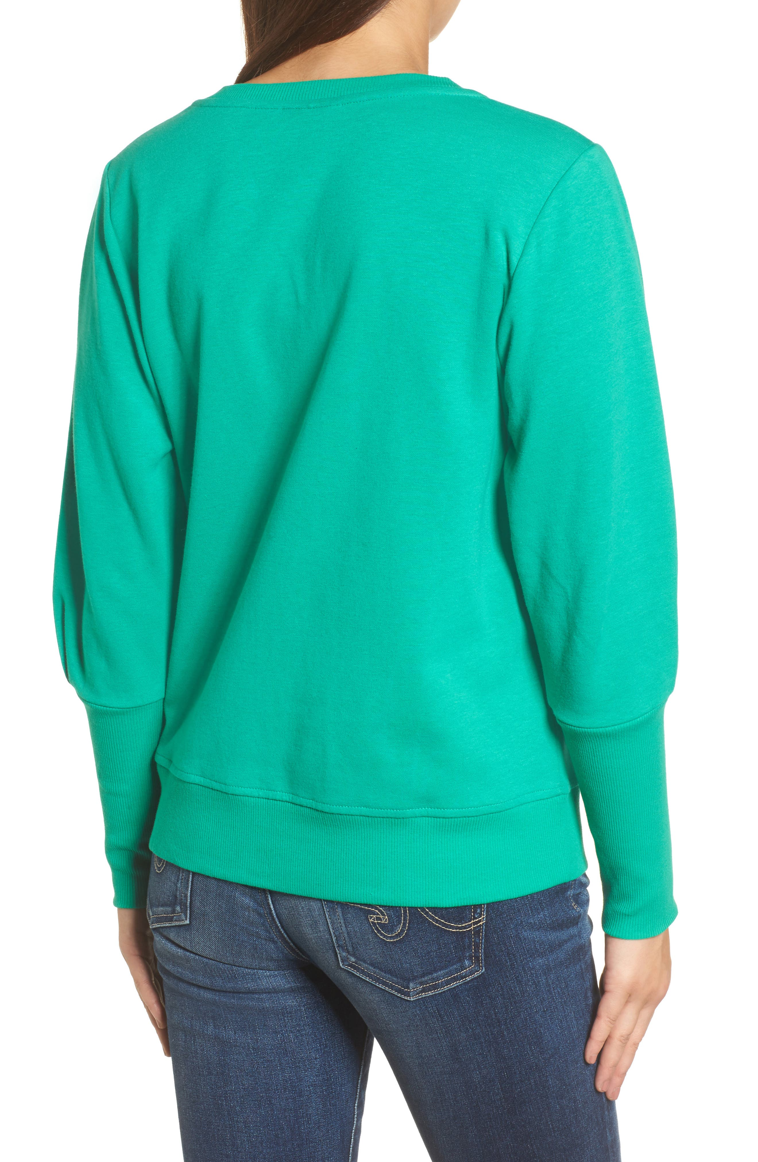 Blouson Sleeve Sweatshirt,                             Alternate thumbnail 8, color,