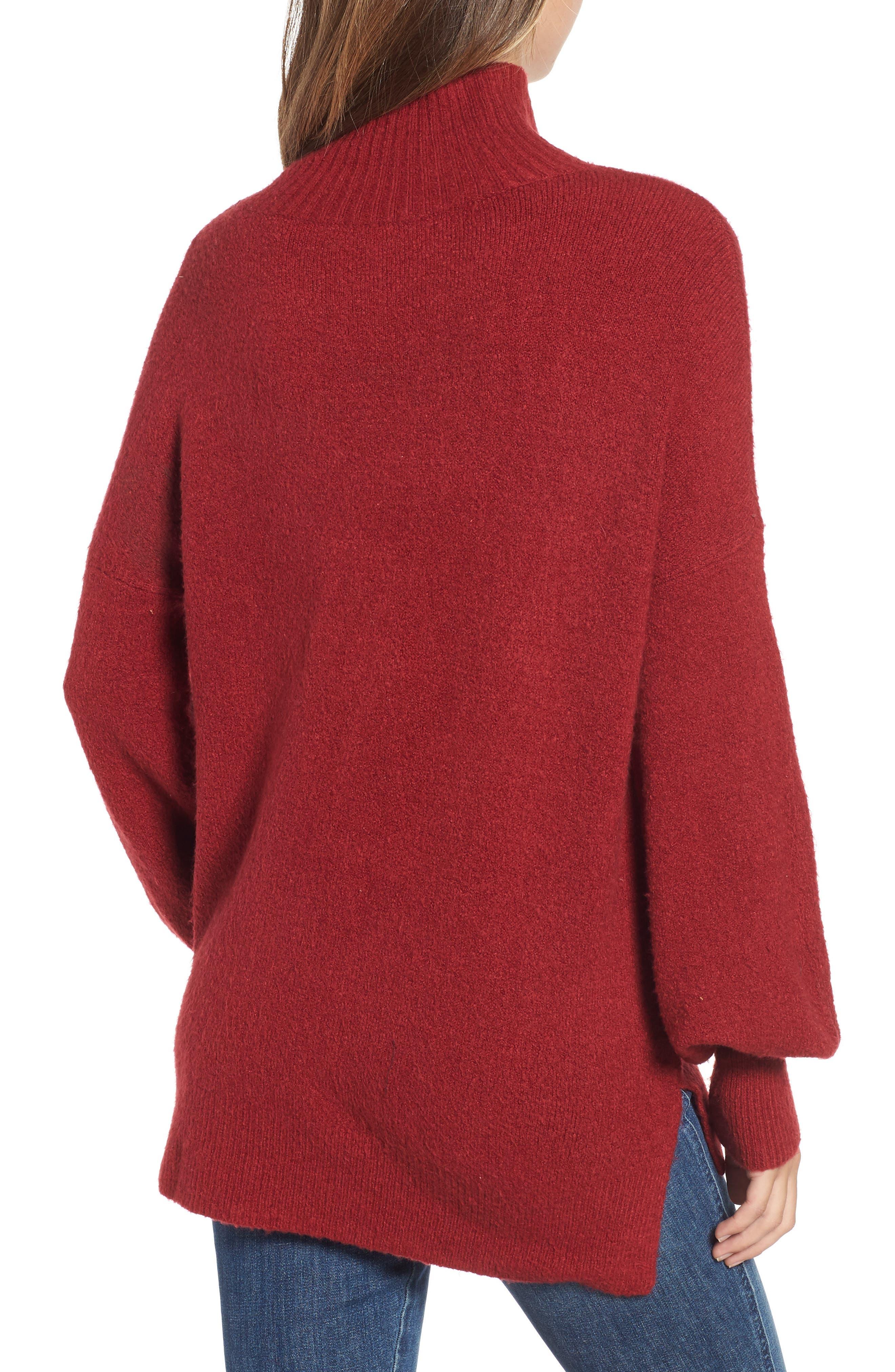 Orla Sweater,                             Alternate thumbnail 2, color,                             DEEP FRAMBOISE