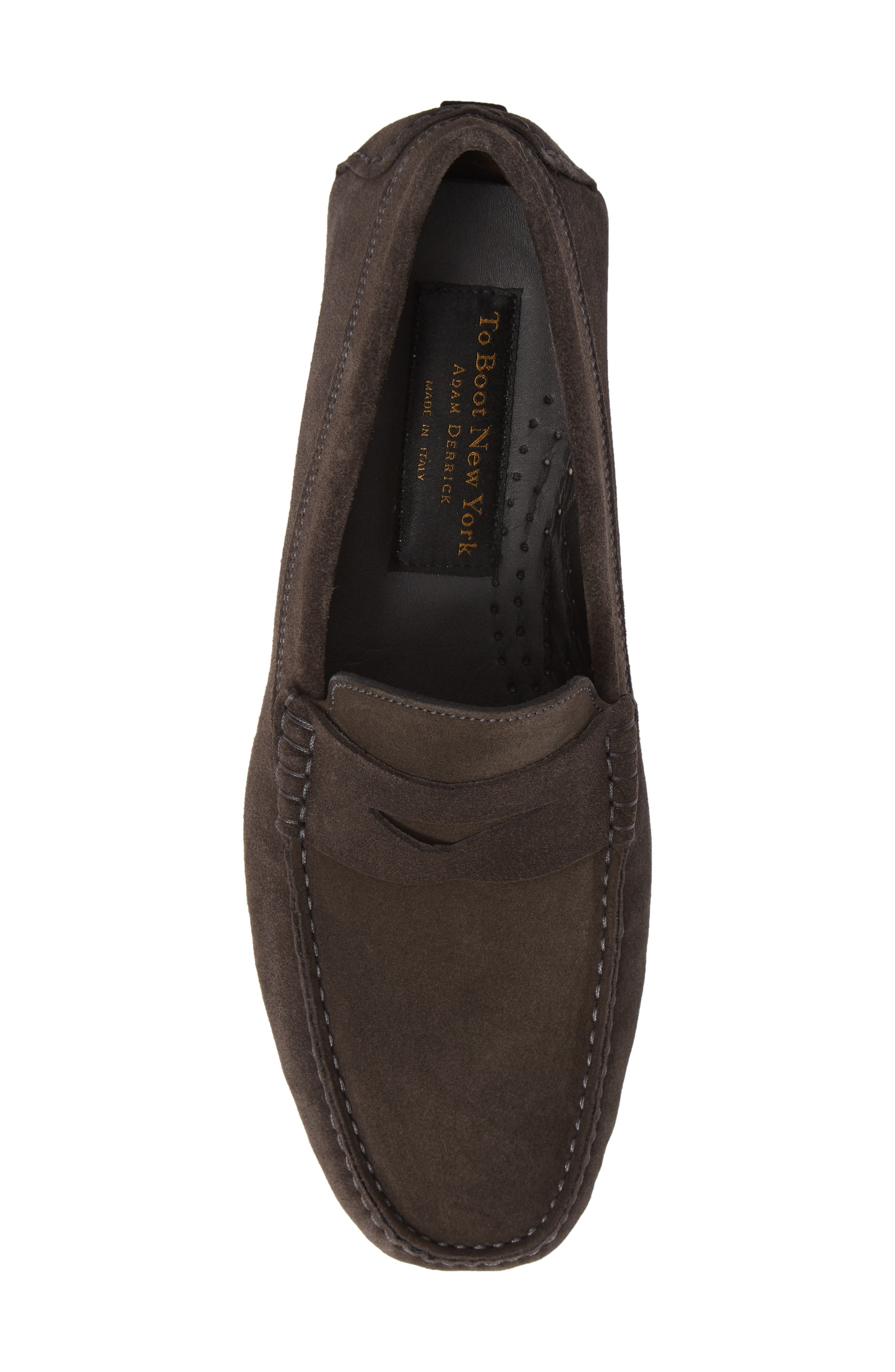 Jackson Penny Driving Loafer,                             Alternate thumbnail 5, color,                             GREY LEATHER