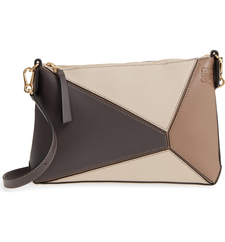 fd5831859285 LOEWE Mini Puzzle Calfskin Leather Crossbody Bag