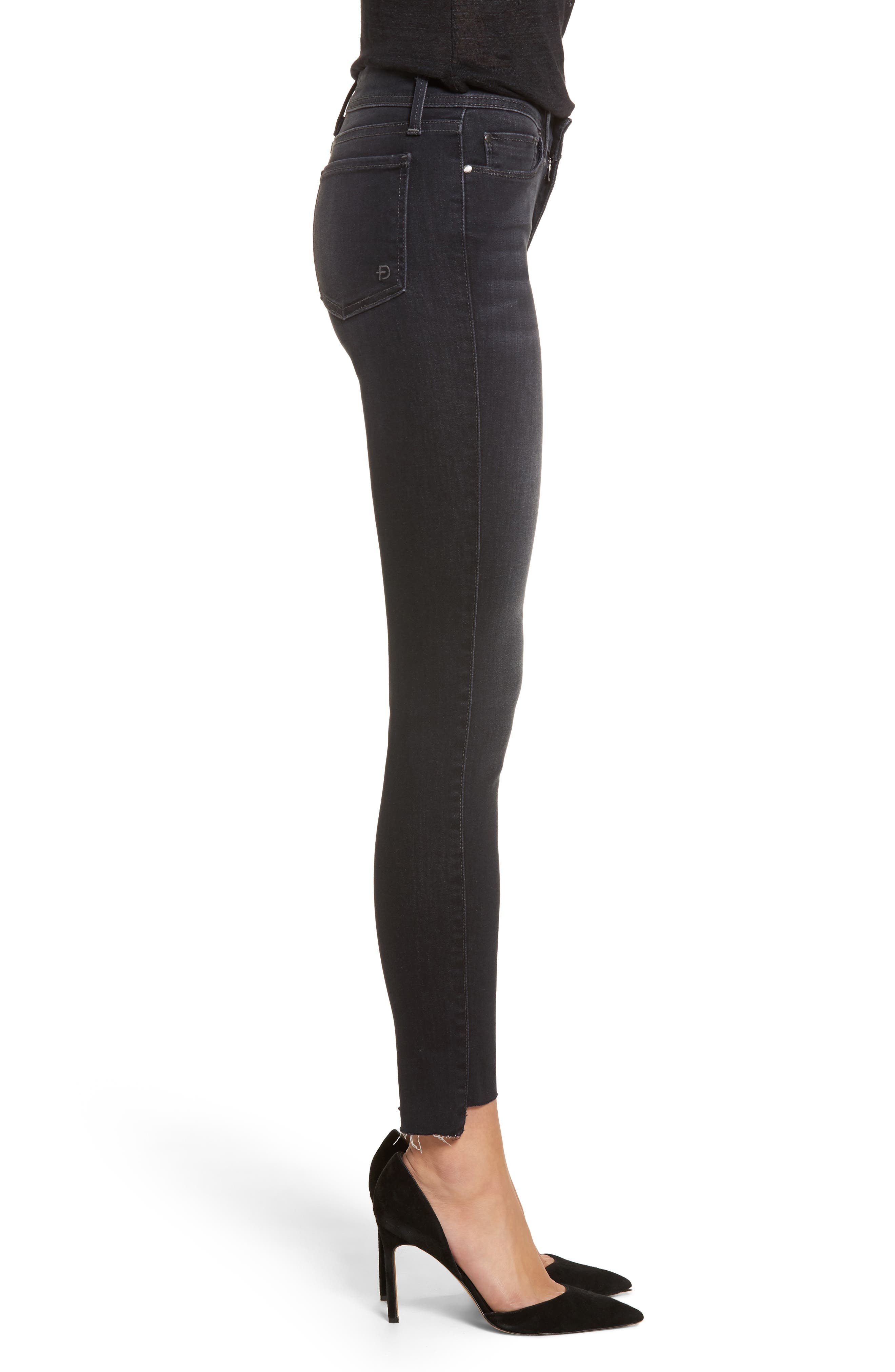 Mila Step Hem Skinny Jeans,                             Alternate thumbnail 3, color,                             AFTER MIDNIGHT