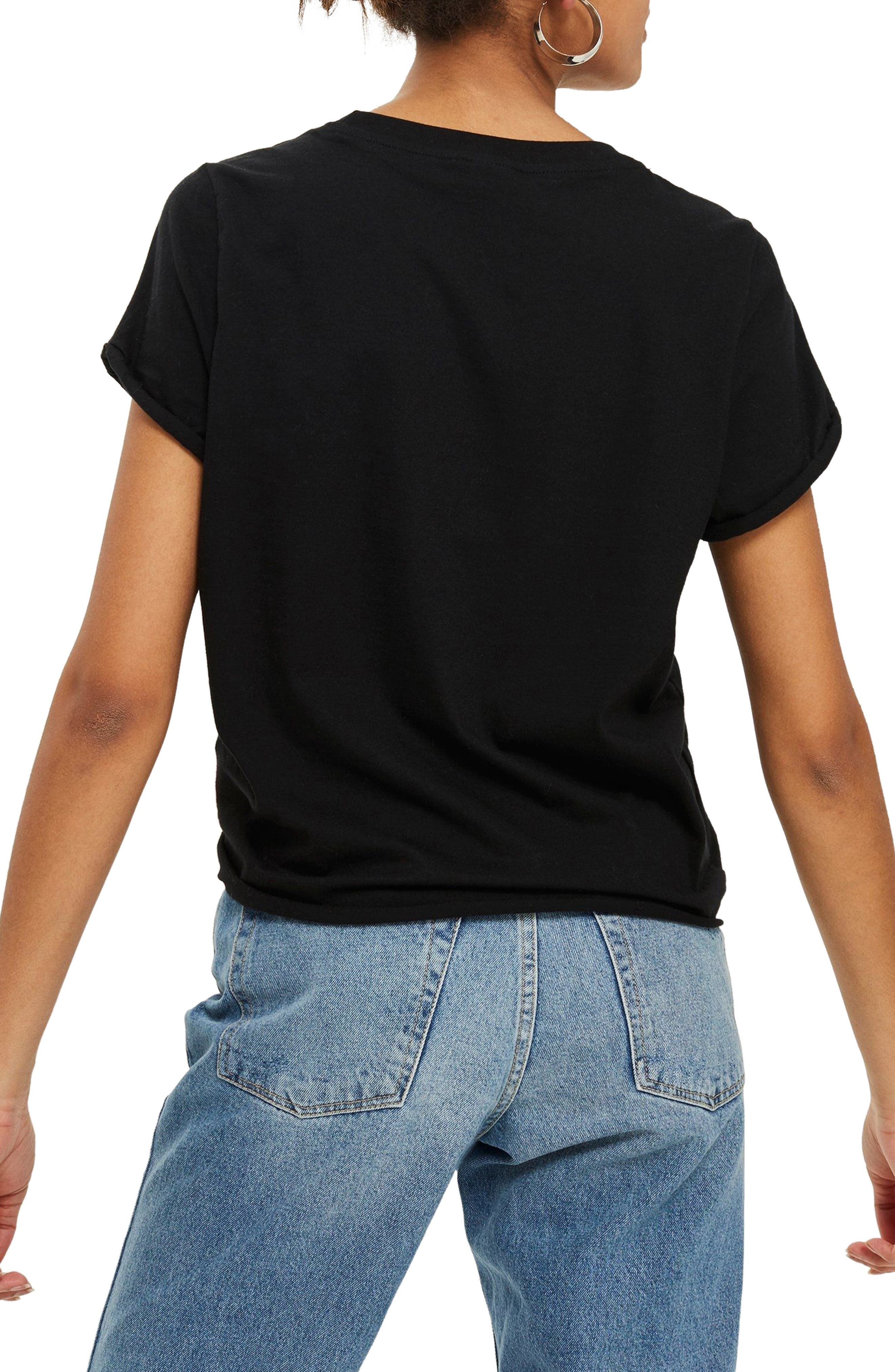 TOPSHOP,                             Rollback Tee,                             Alternate thumbnail 2, color,                             001