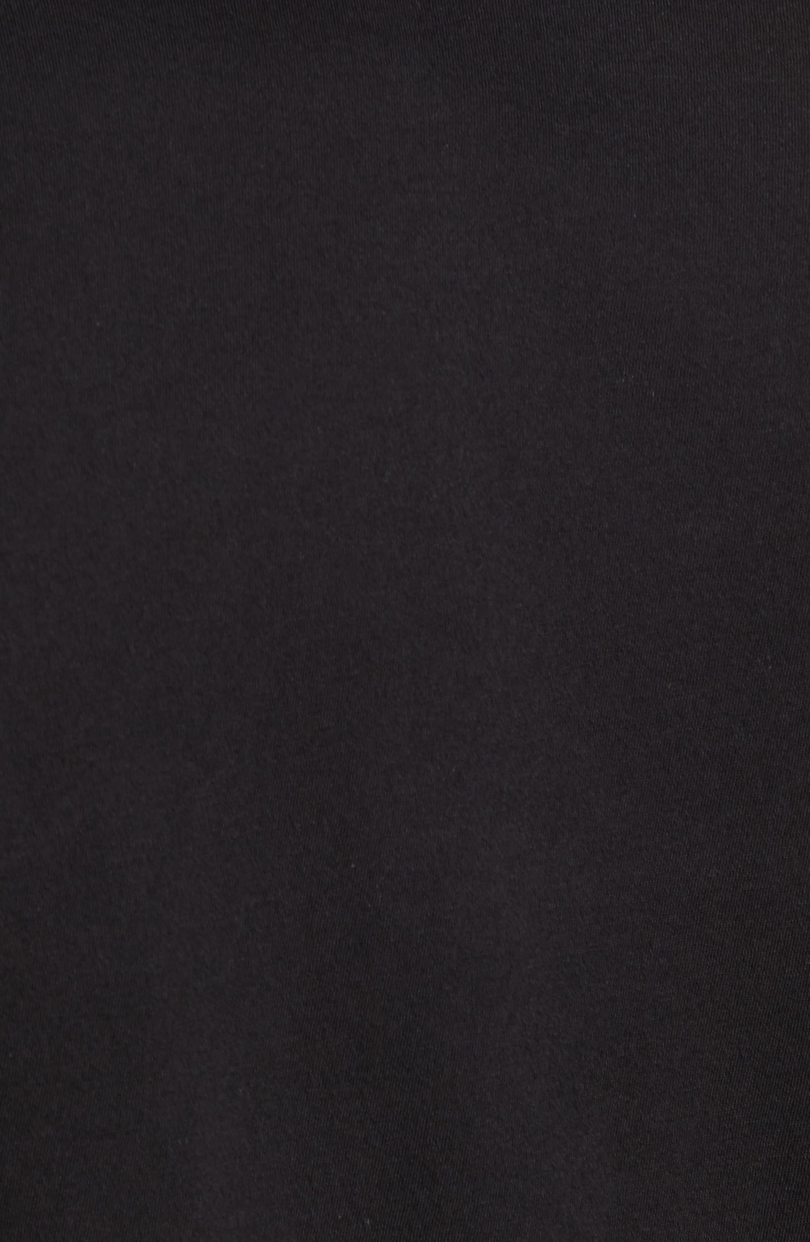 VINCE,                             Pima Cotton V-Neck T-Shirt,                             Alternate thumbnail 5, color,                             BLACK