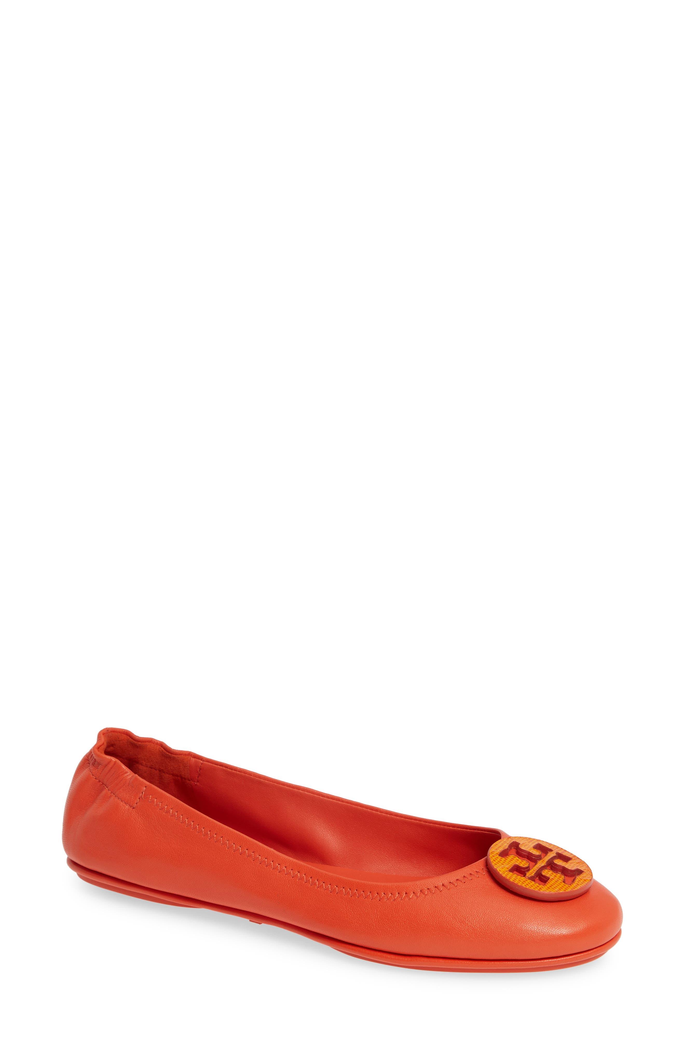 'Minnie' Travel Ballet Flat in Pomander/ Dark Saffron