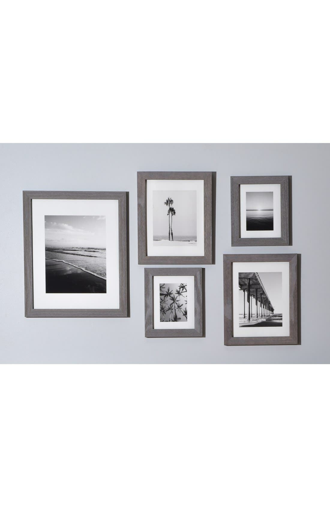DENY DESIGNS,                             'Ombré Beach' Wall Art Print Set,                             Alternate thumbnail 6, color,                             WHITE