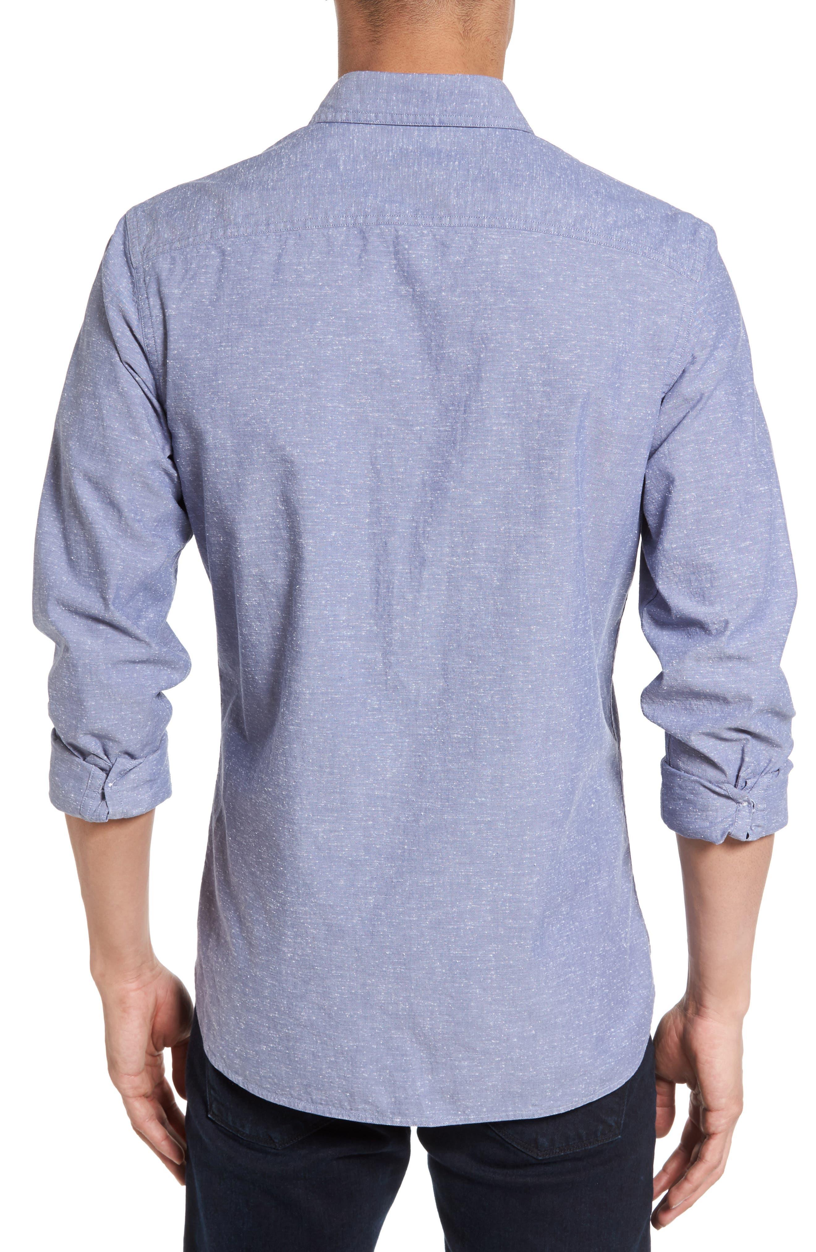 Slim Fit Slub Cotton Sport Shirt,                             Alternate thumbnail 2, color,                             450