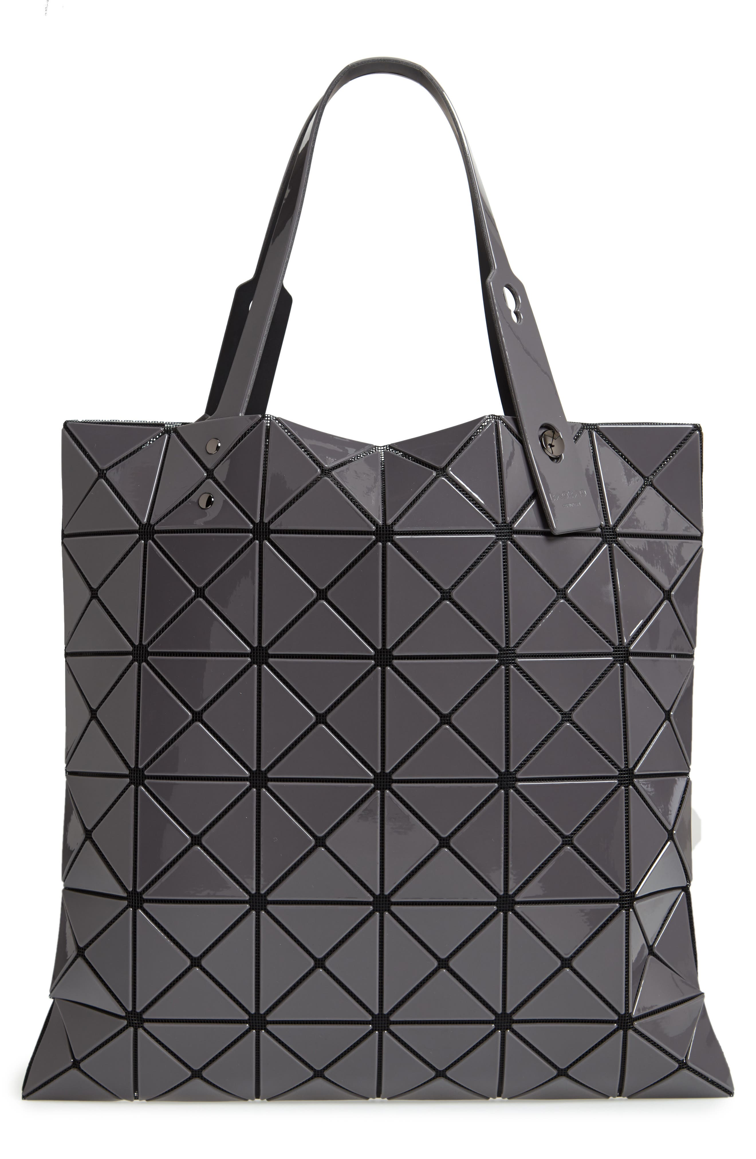 Lucent Two-Tone Tote Bag,                             Alternate thumbnail 3, color,                             LIGHT GRAY/ CHARCOAL