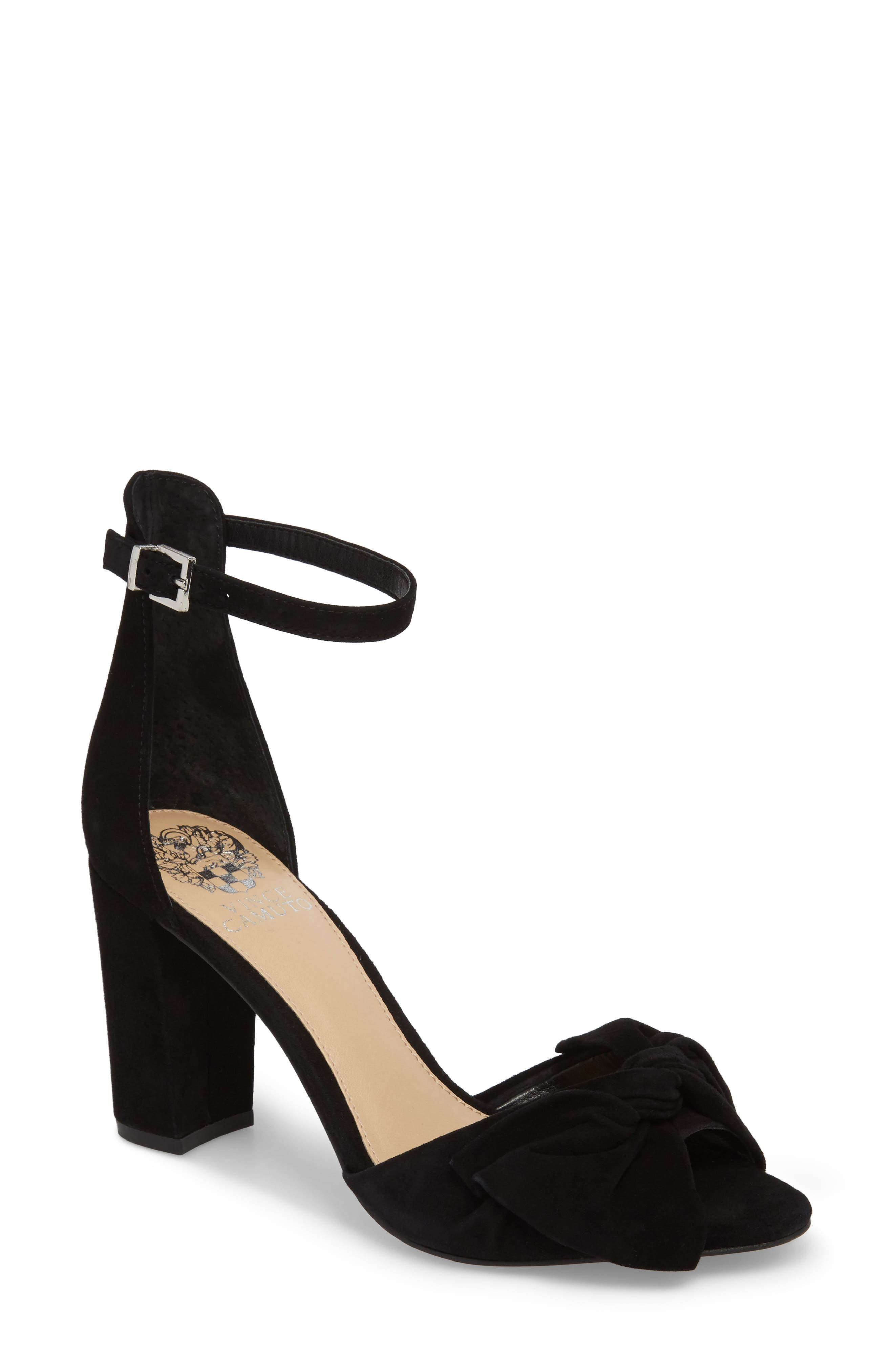 Carrelen Block Heel Sandal,                         Main,                         color, 001