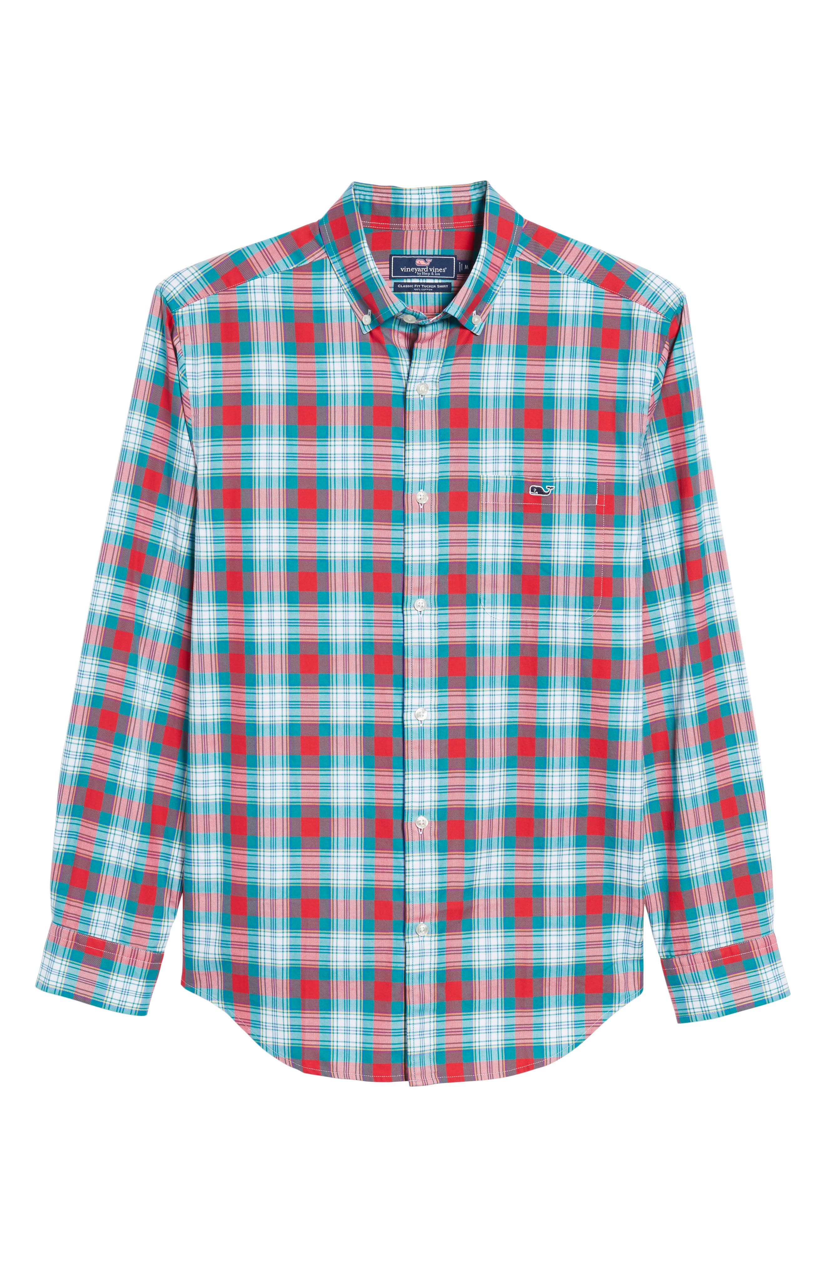 Elmwood Classic Fit Plaid Sport Shirt,                             Alternate thumbnail 6, color,                             351