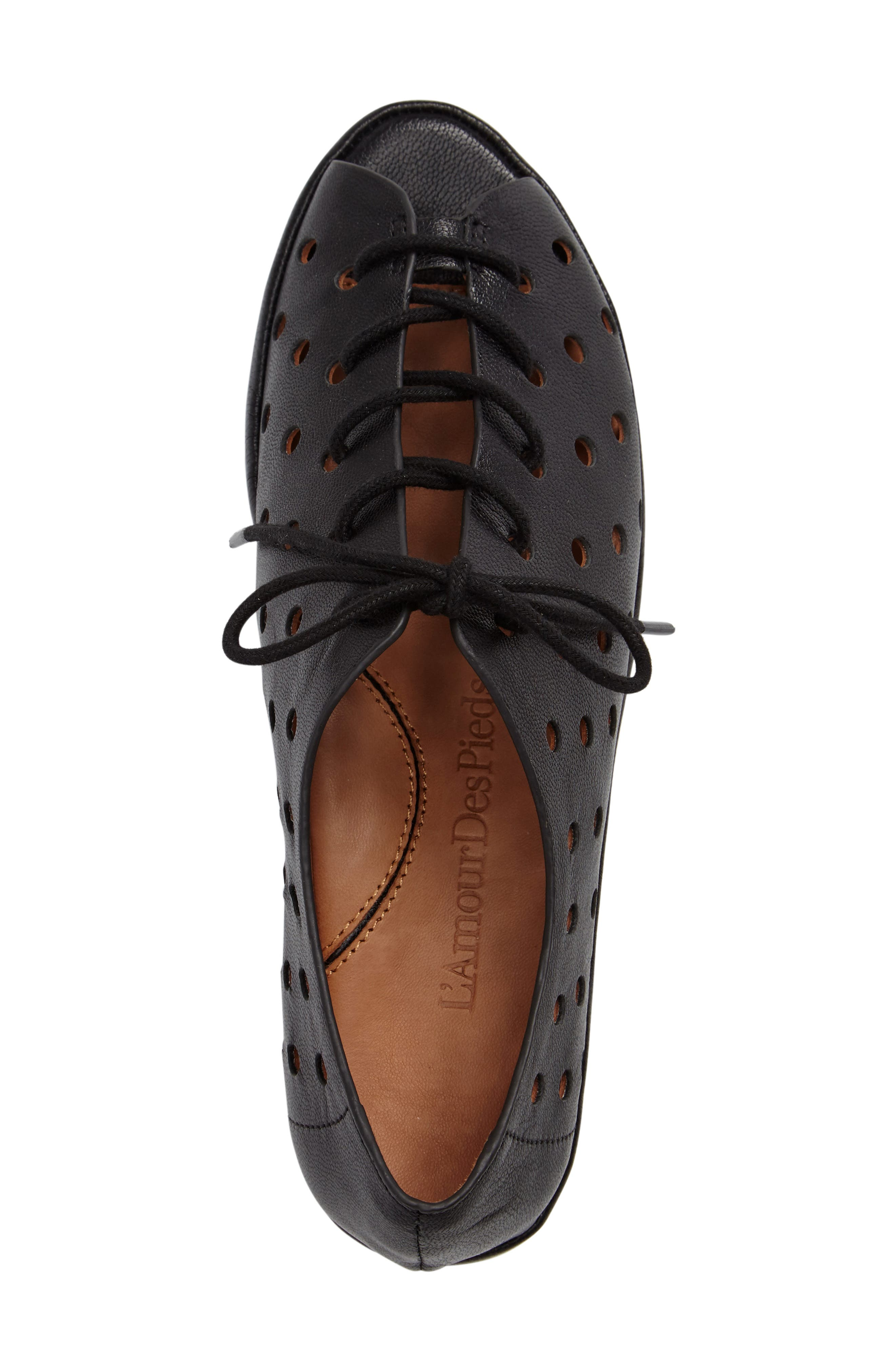 Boccoo Perforated Lace-Up Oxford,                             Alternate thumbnail 3, color,                             001
