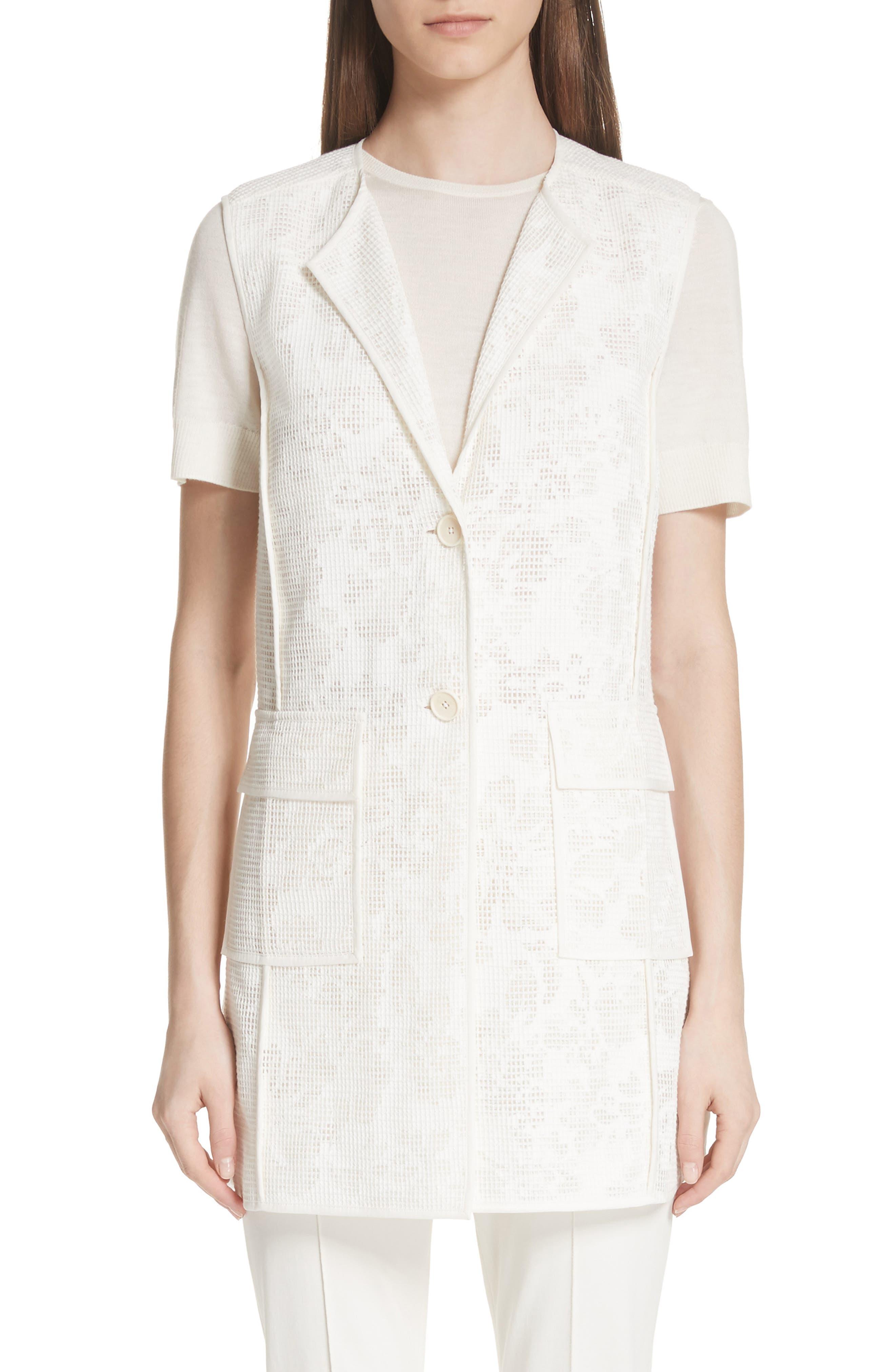 Burnout Netting Vest,                         Main,                         color, CREAM/ BIANCO