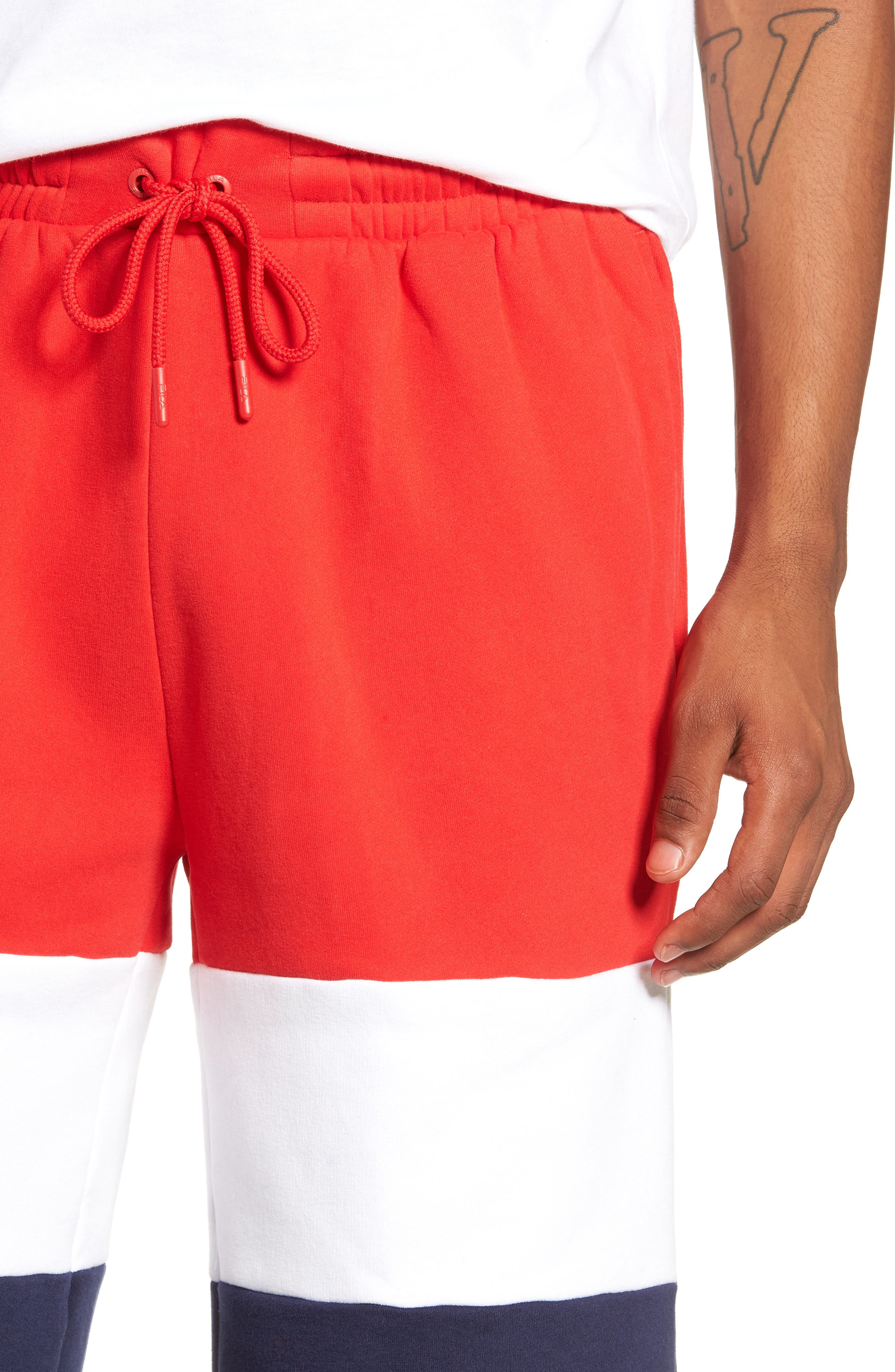 Alanzo Shorts,                             Alternate thumbnail 4, color,                             CHINESE RED/ WHITE/ NAVY