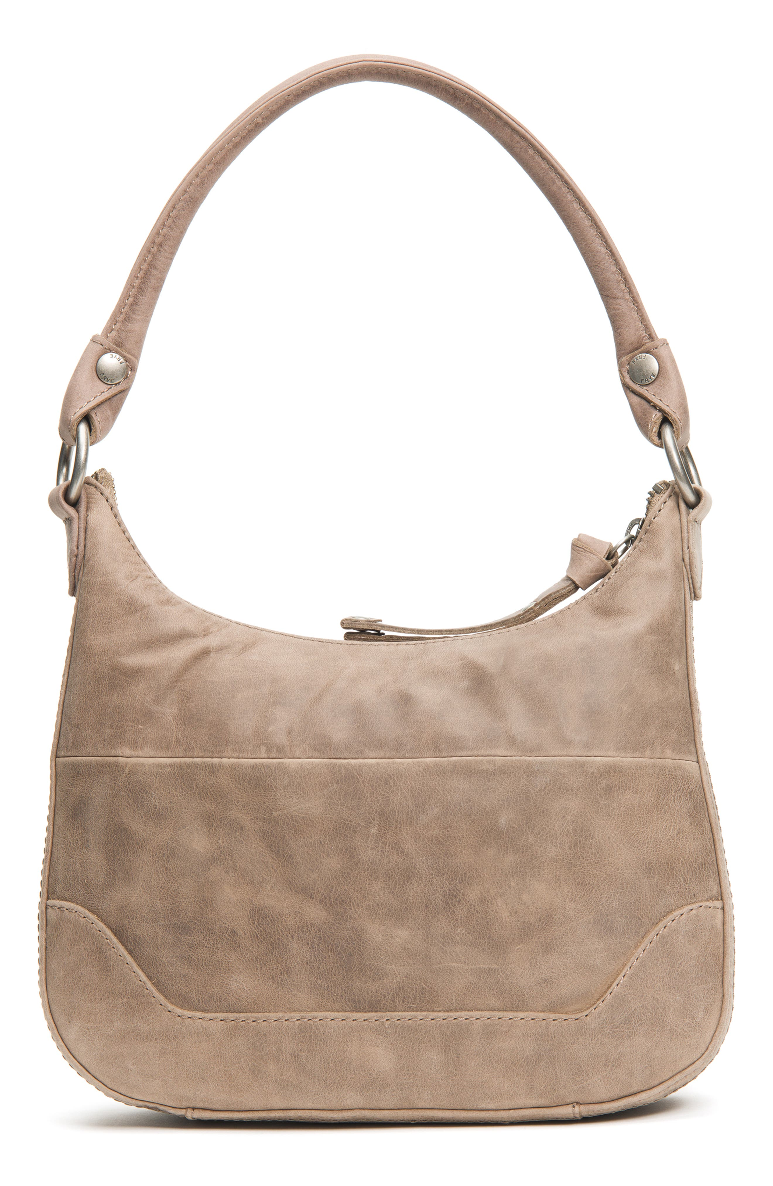 Small Melissa Leather Hobo Bag,                             Alternate thumbnail 3, color,                             030
