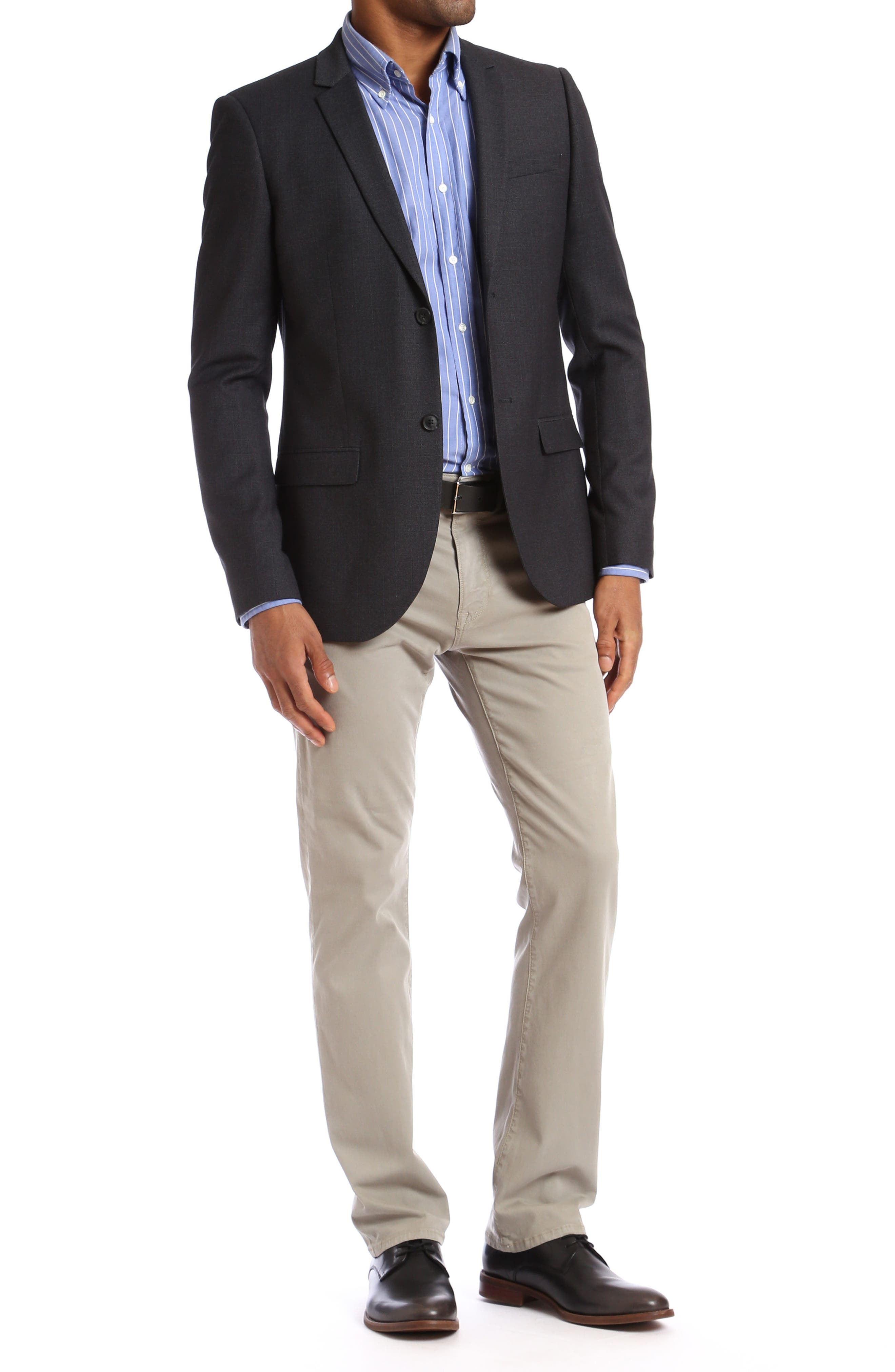 Charisma Relaxed Fit Jeans,                             Alternate thumbnail 4, color,                             FINE TWILL