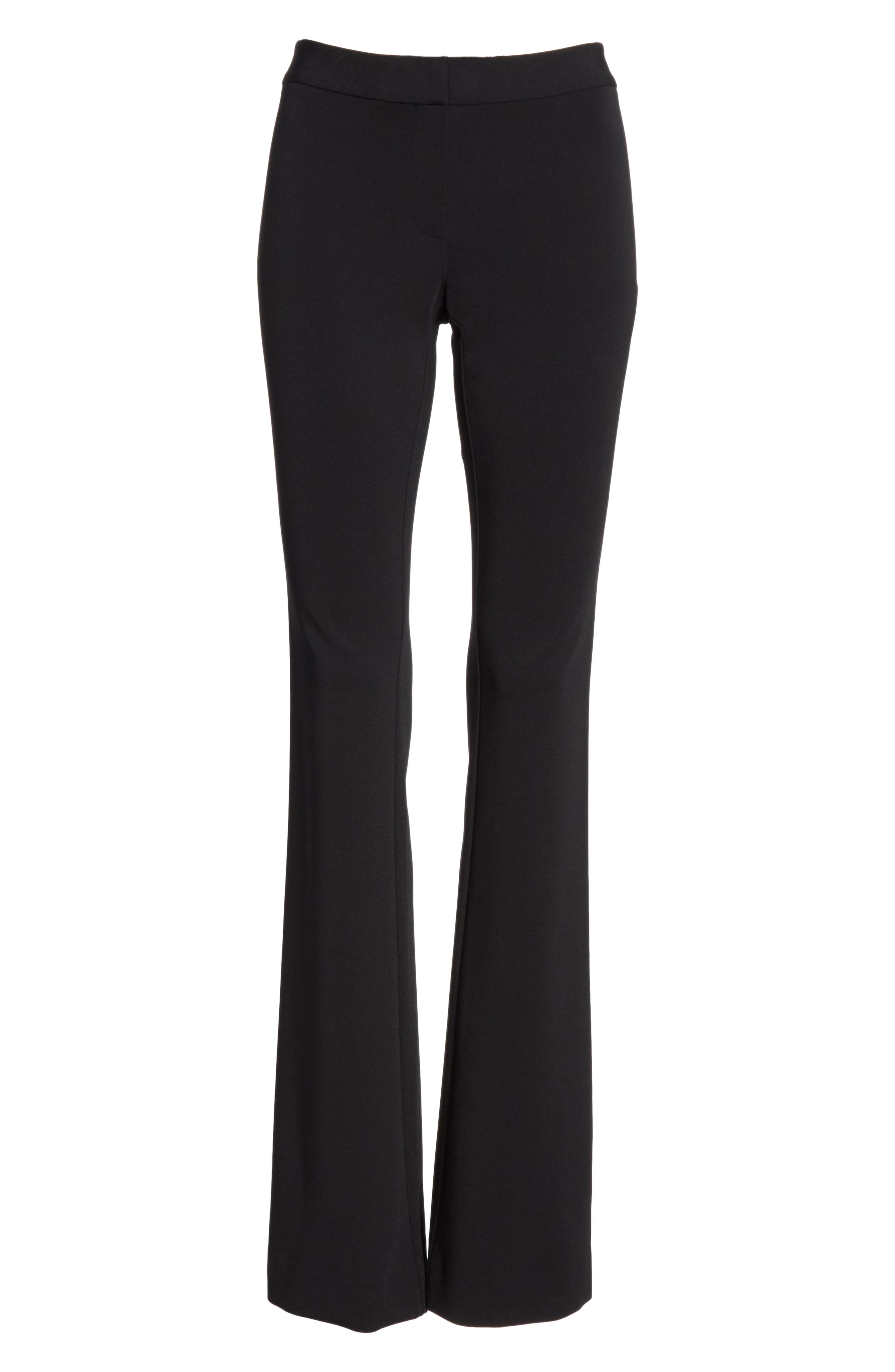 LAFAYETTE 148 NEW YORK,                             Waldorf Flare Pants,                             Alternate thumbnail 6, color,                             BLACK