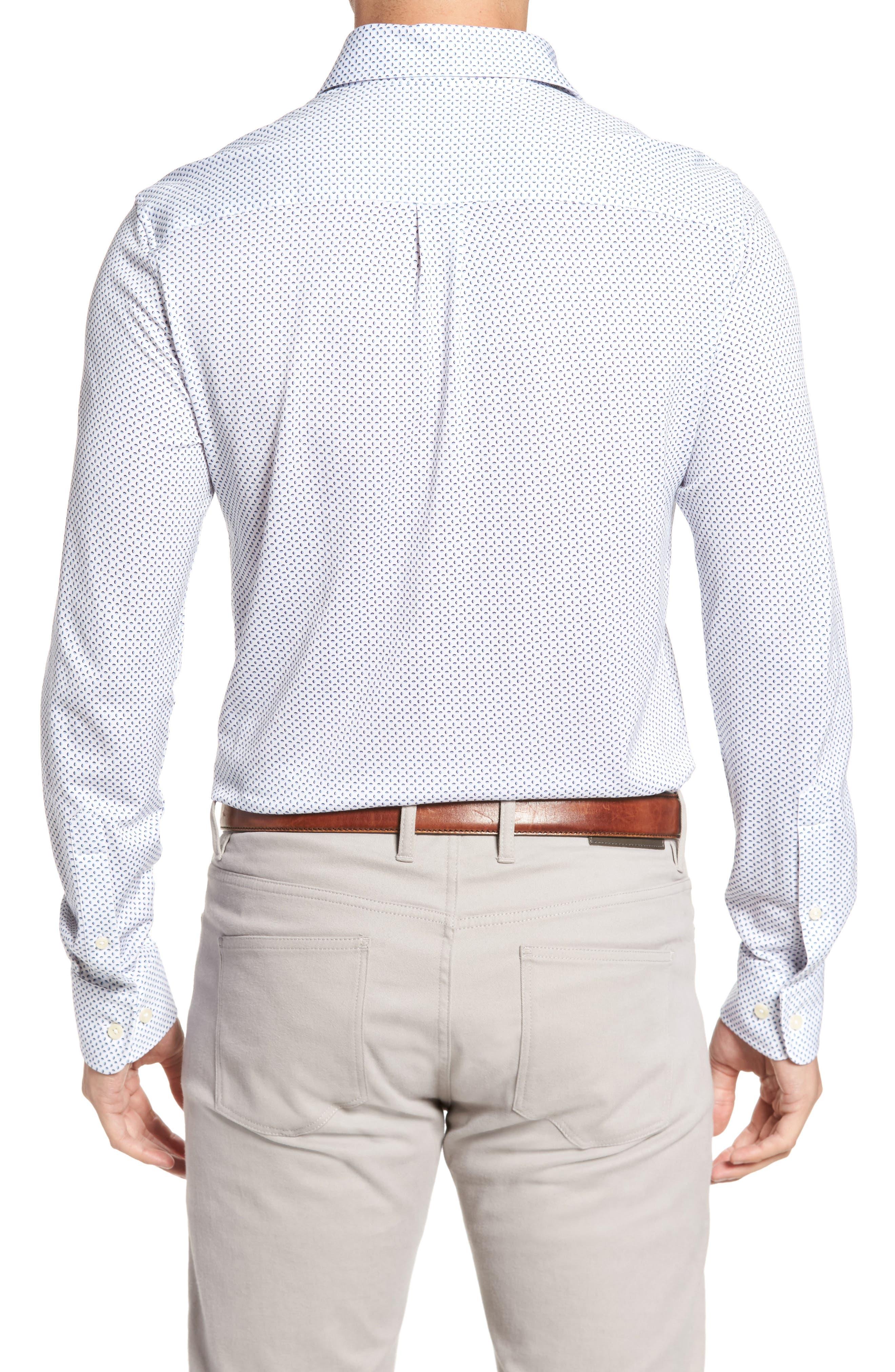 Ocean Mist Classic Fit Print Sport Shirt,                             Alternate thumbnail 2, color,                             100