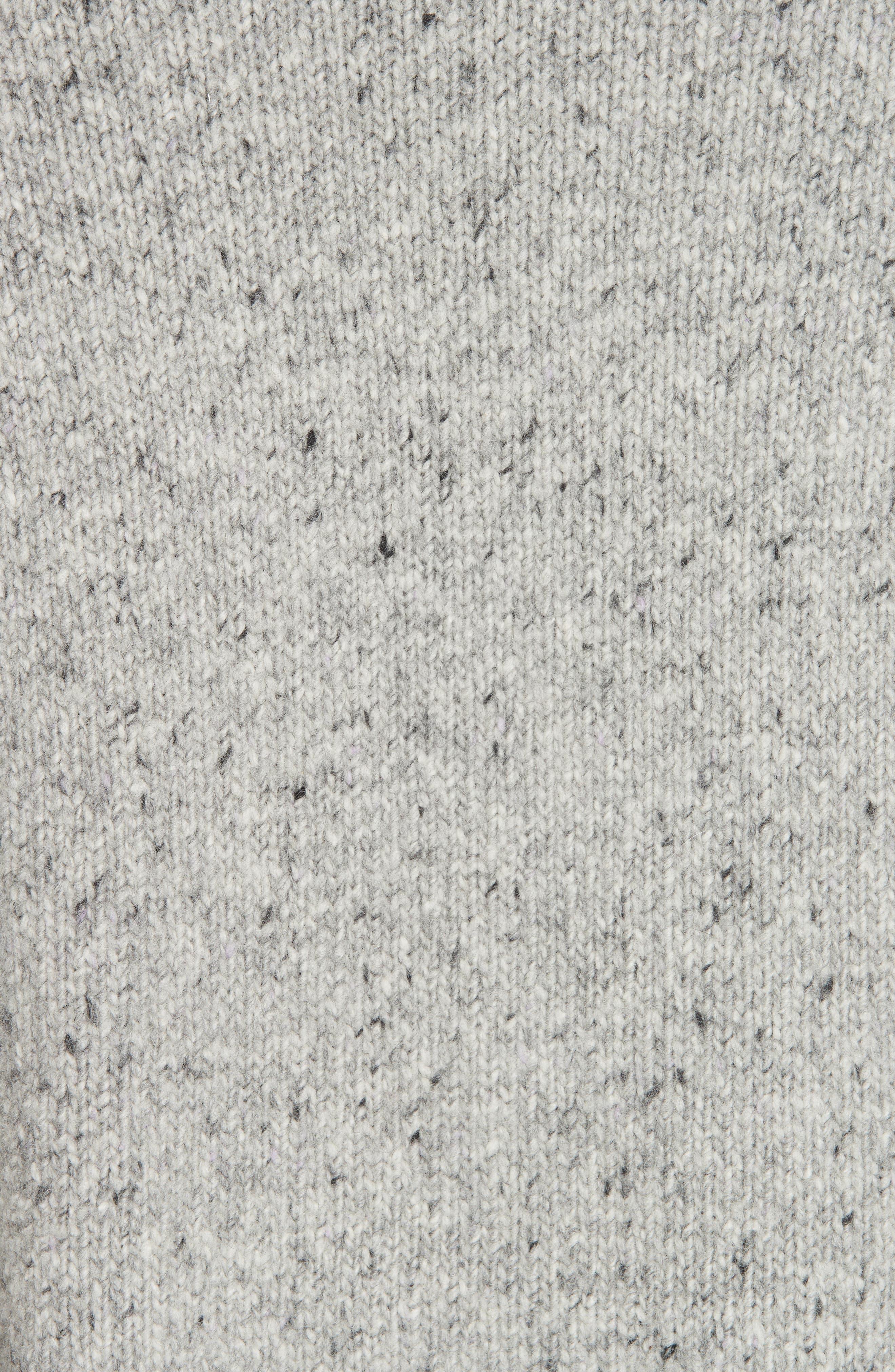 Cashmere Raglan Sleeve Open Front Cardigan,                             Alternate thumbnail 5, color,                             SOFT GREY