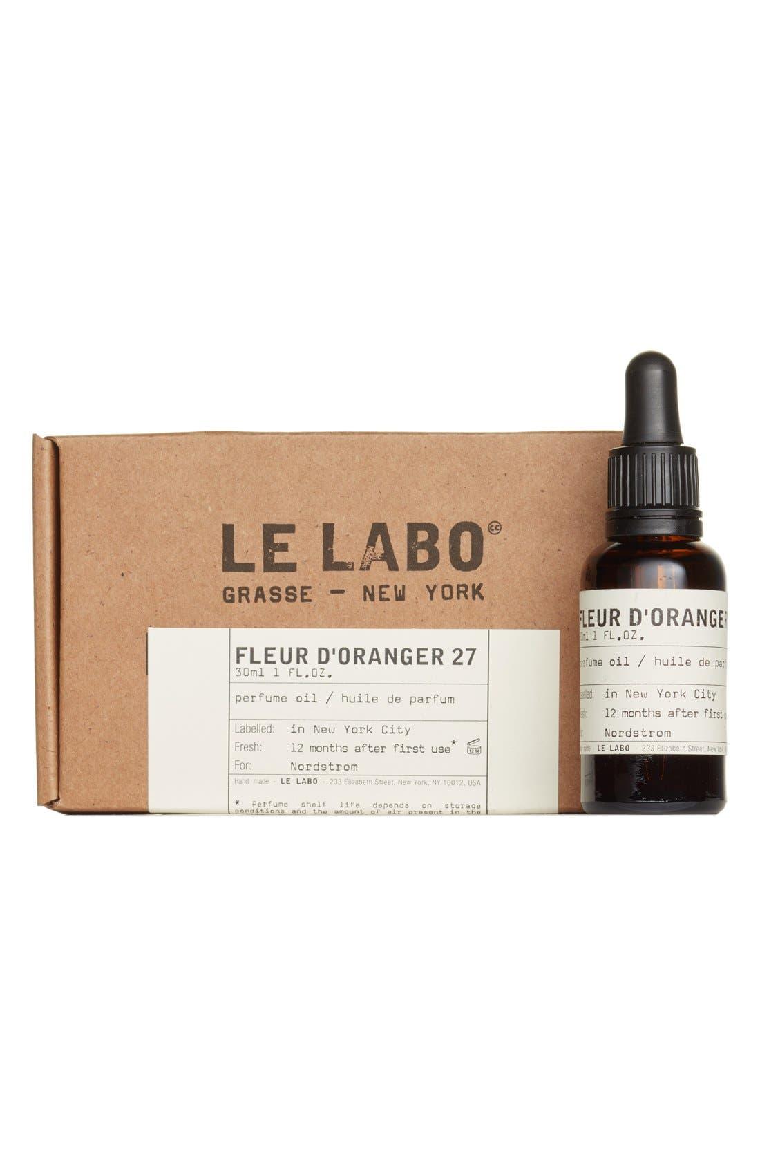 Le Labo Fleur D Oranger 27 Perfume Oil Nordstrom