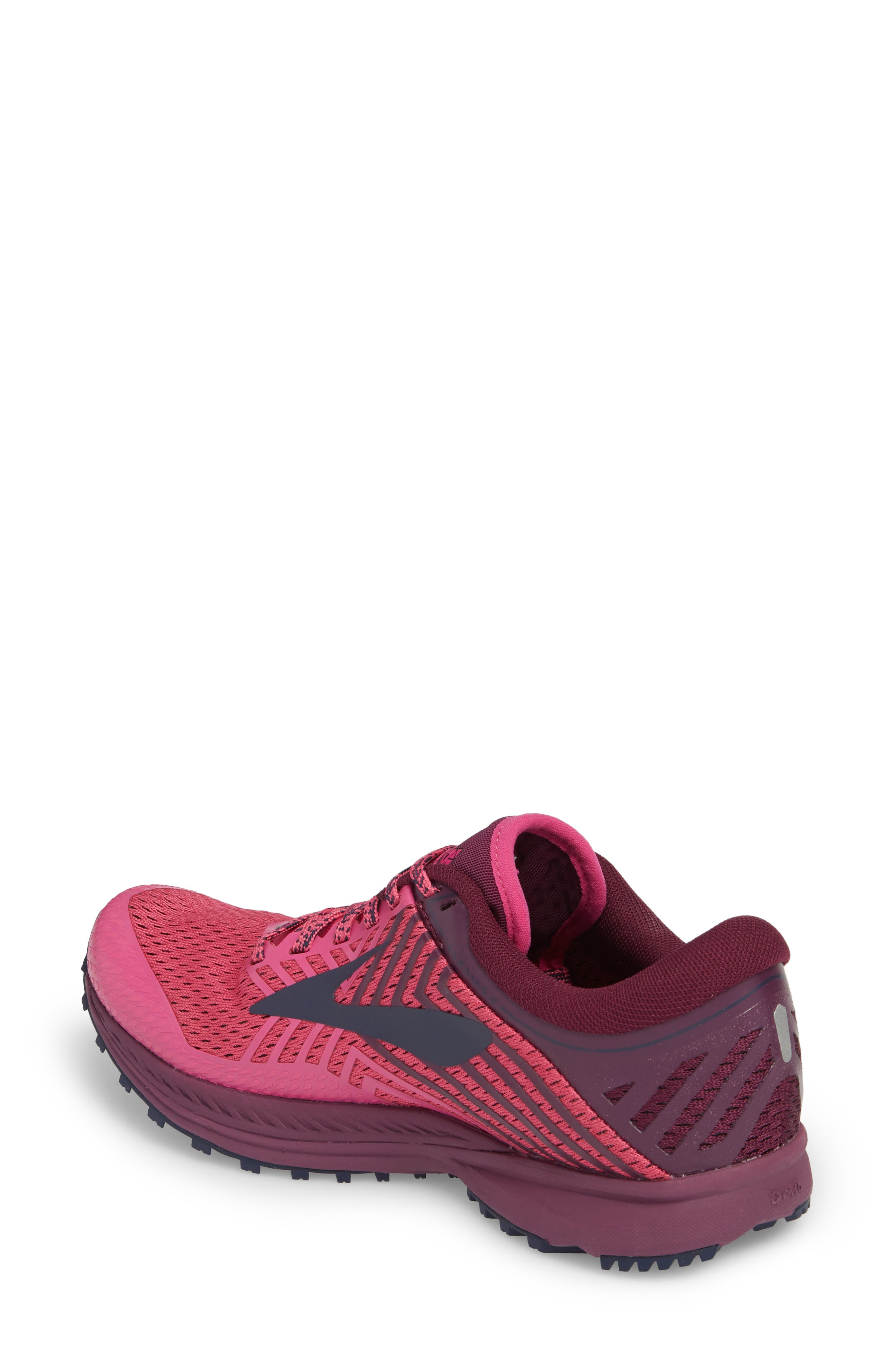 Mazama 2 Trail Running Shoe,                             Alternate thumbnail 2, color,                             PINK/ PLUM/ NAVY