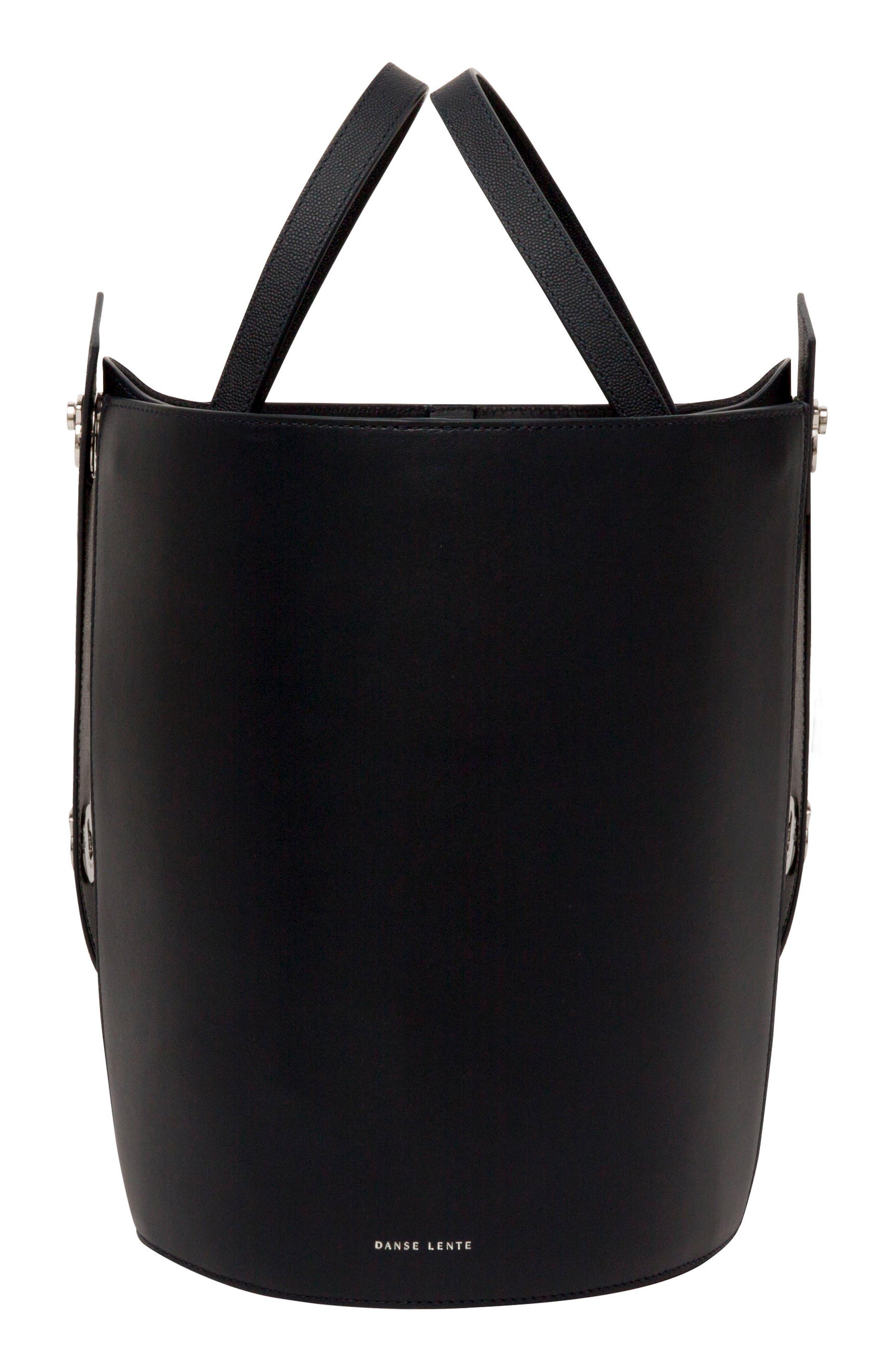 Mini Lorna Leather Bucket Bag,                             Alternate thumbnail 8, color,                             MARINE