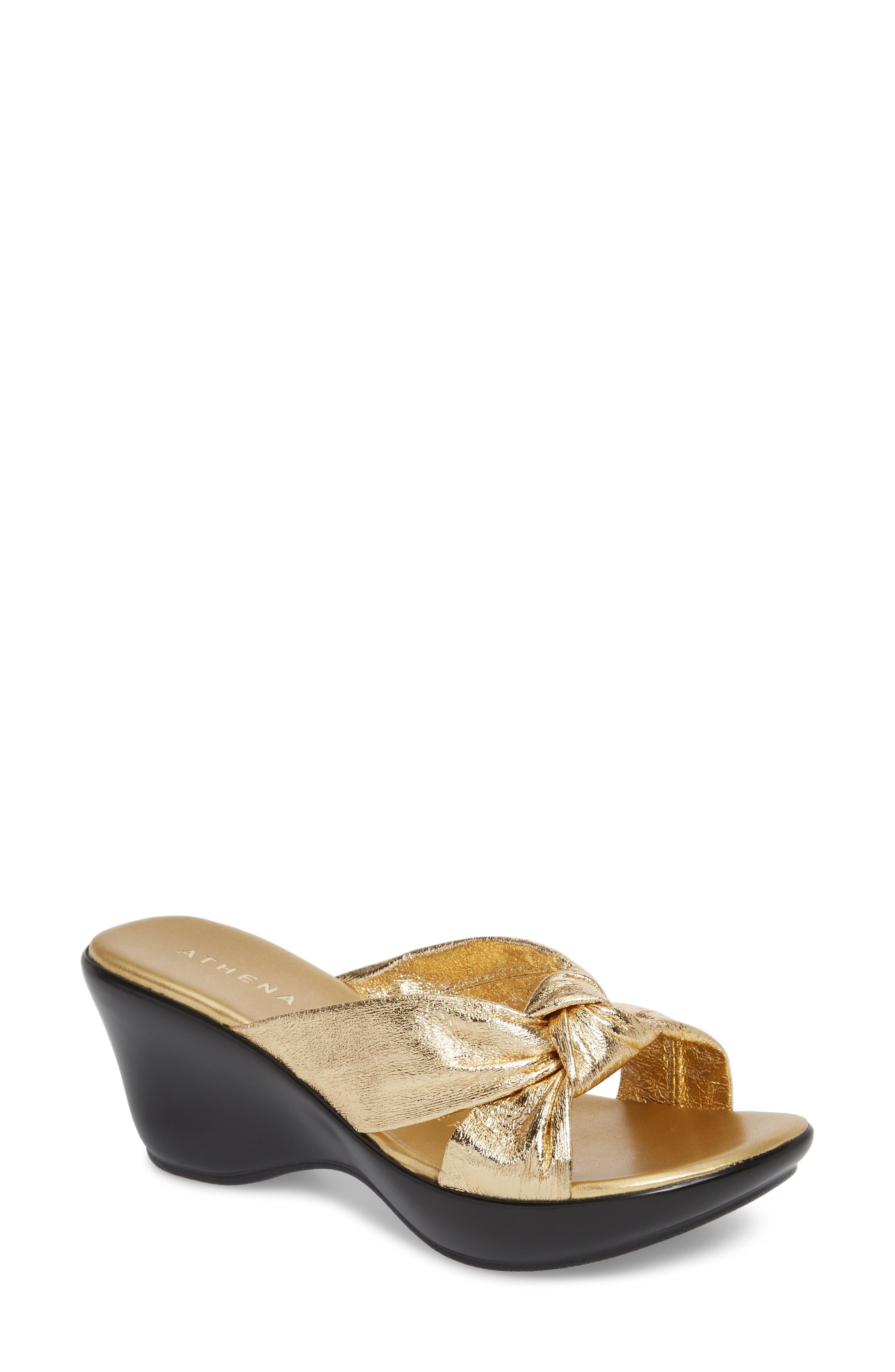 Athena Alexander Soraya Wedge Sandal- Metallic