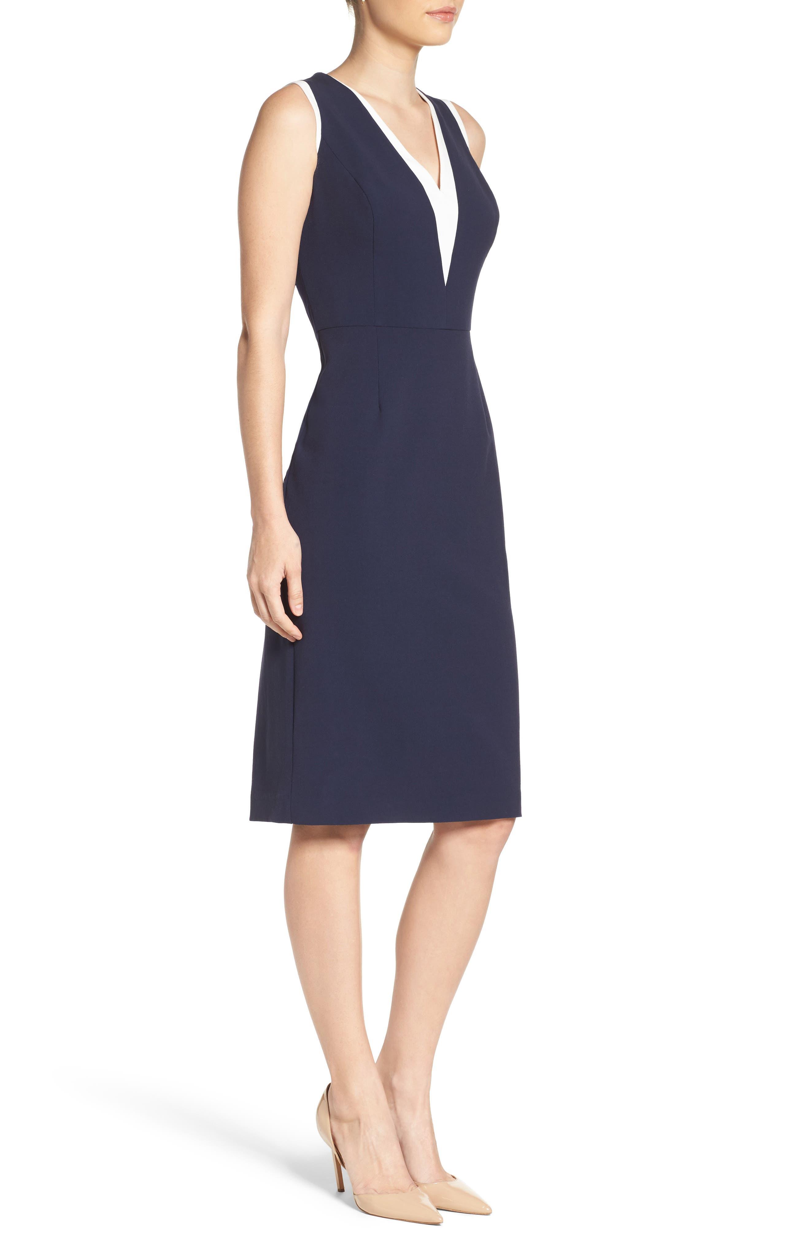 Stretch Sheath Dress,                             Alternate thumbnail 3, color,                             407