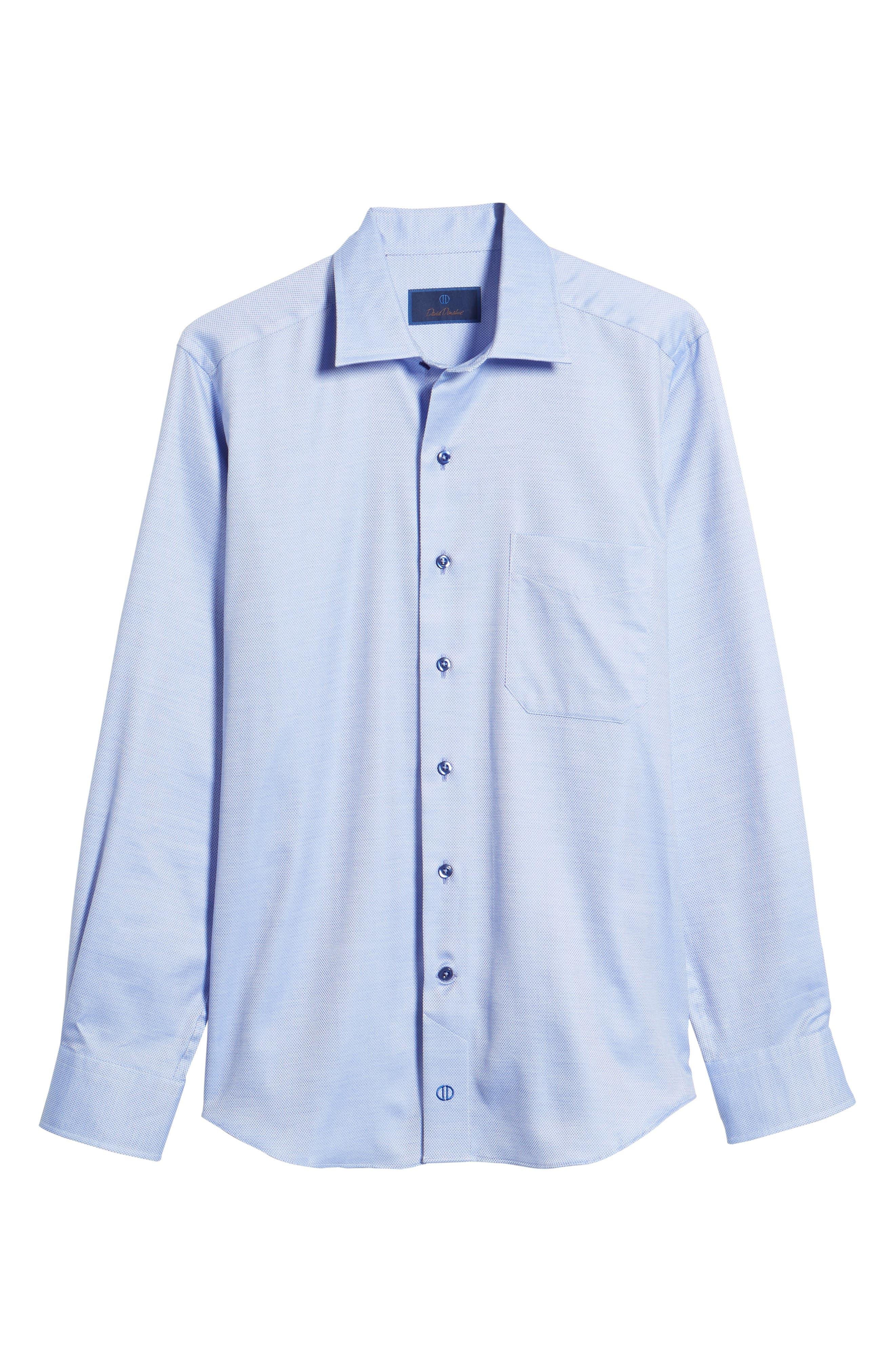 Micro Diamond Regular Fit Sport Shirt,                             Alternate thumbnail 6, color,                             423