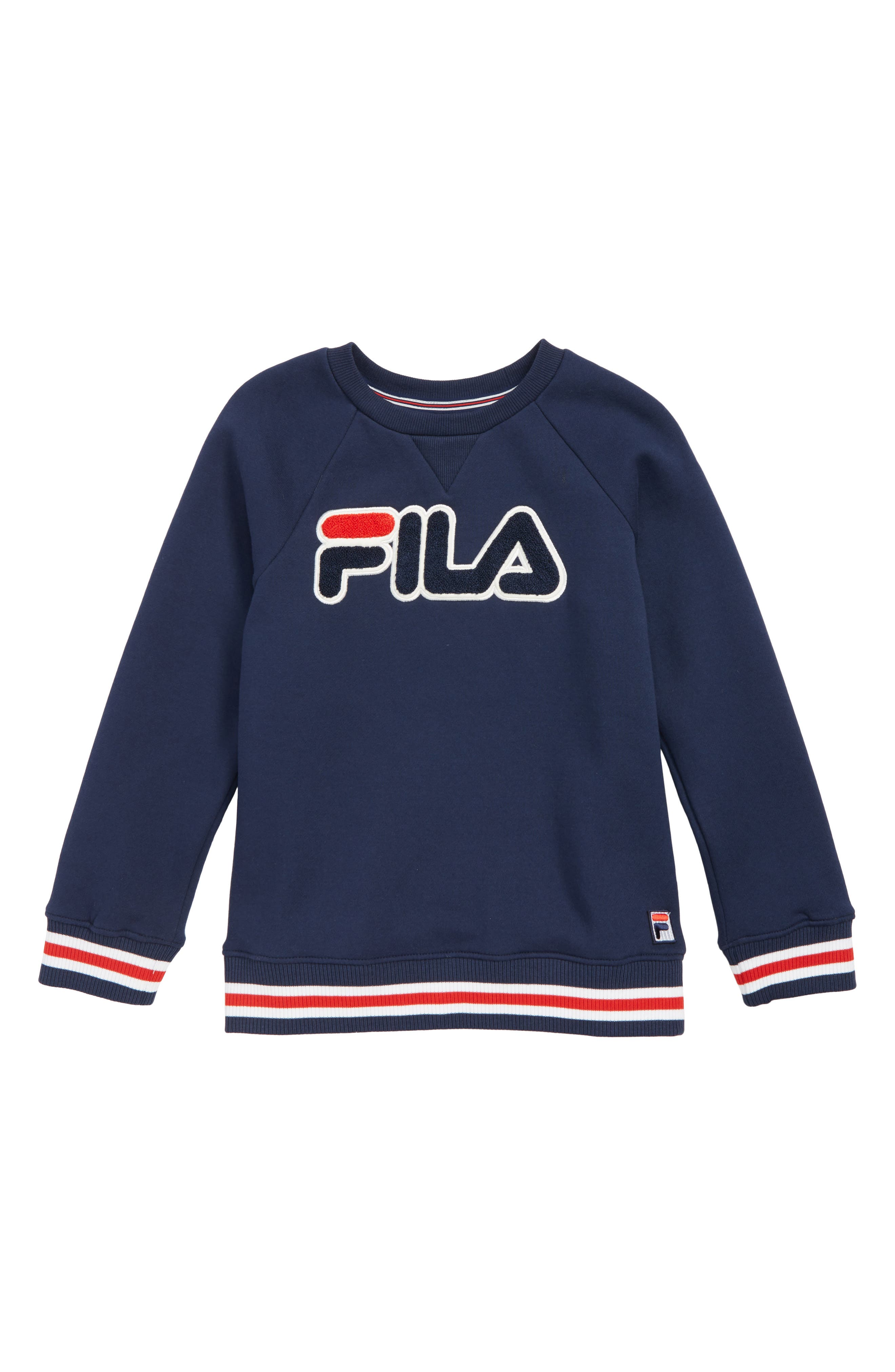 Boys Fila Varsity Crew Sweatshirt