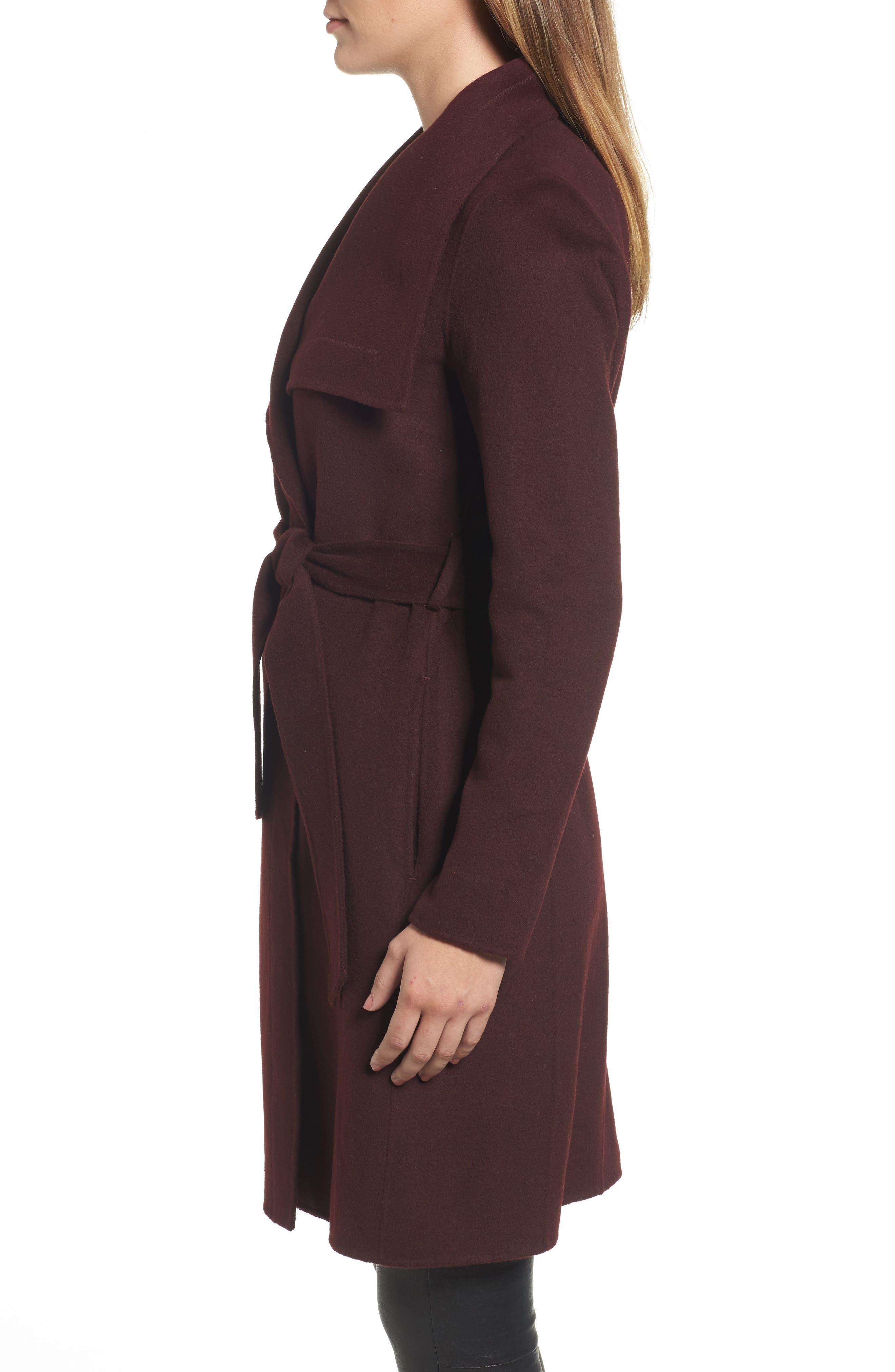 Ellie Double Face Wool Blend Wrap Coat,                             Alternate thumbnail 9, color,