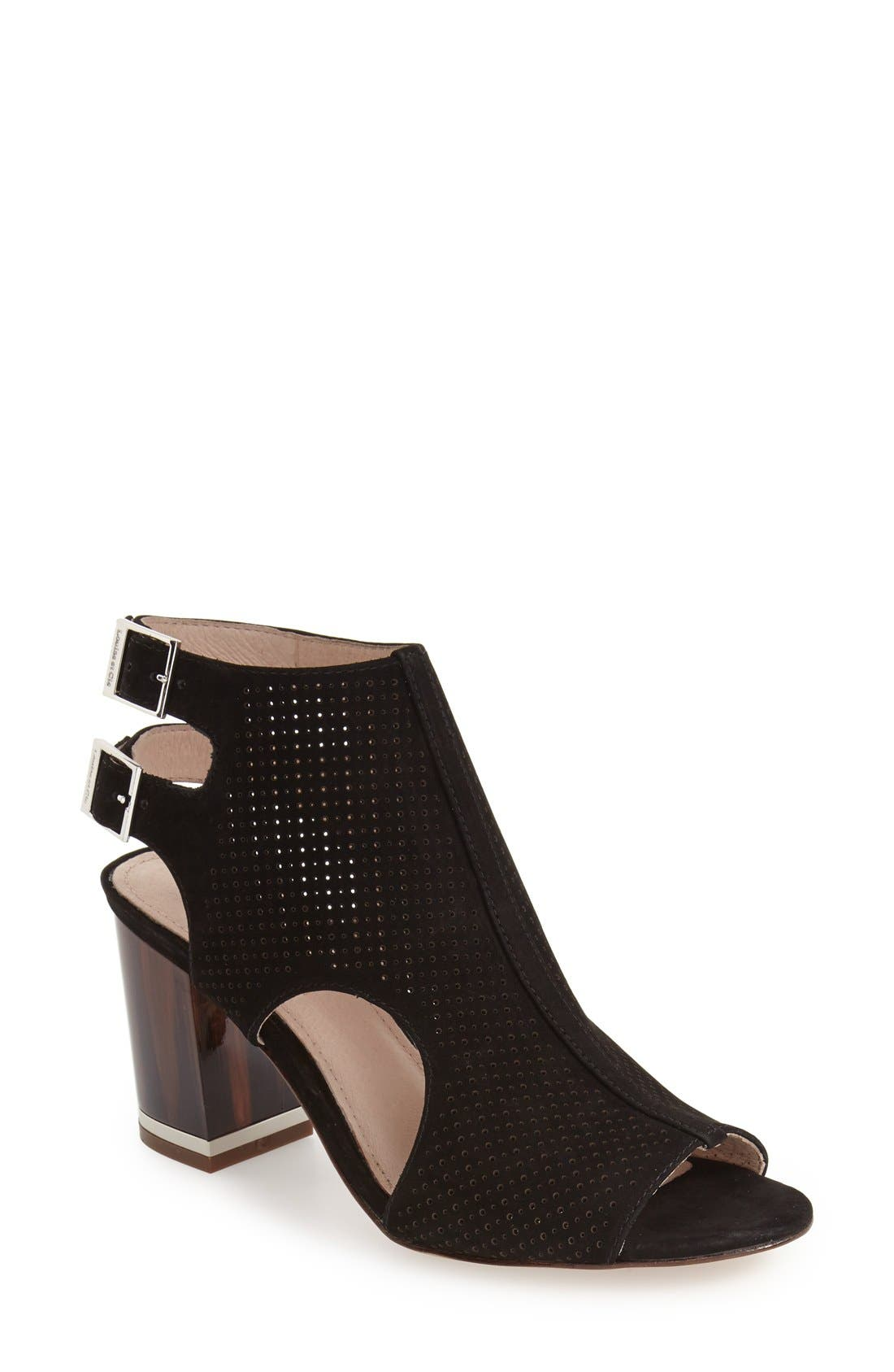 'Vanita' Block Heel Bootie,                         Main,                         color, 001