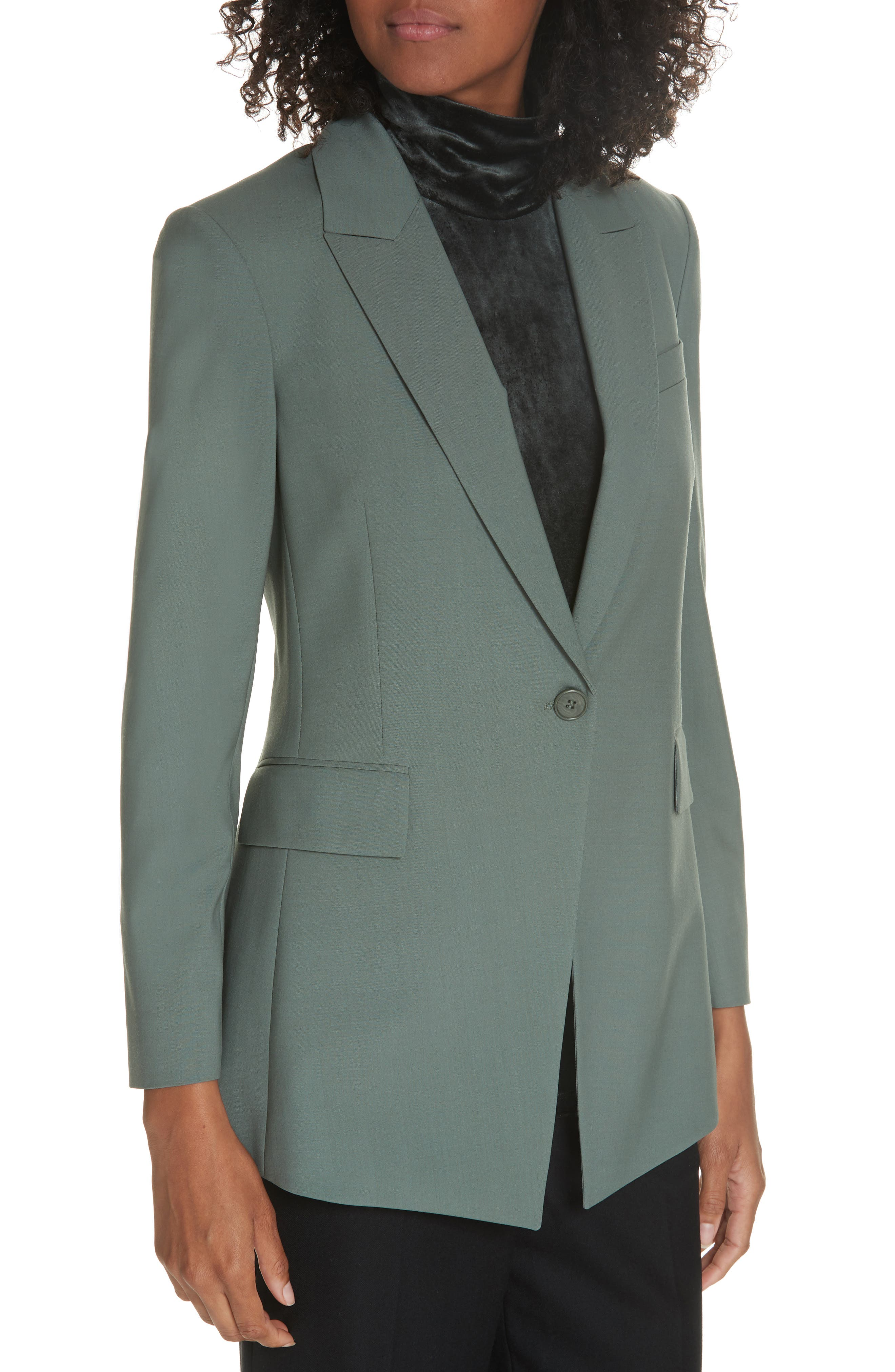 Etienette B Good Wool Suit Jacket,                             Alternate thumbnail 25, color,