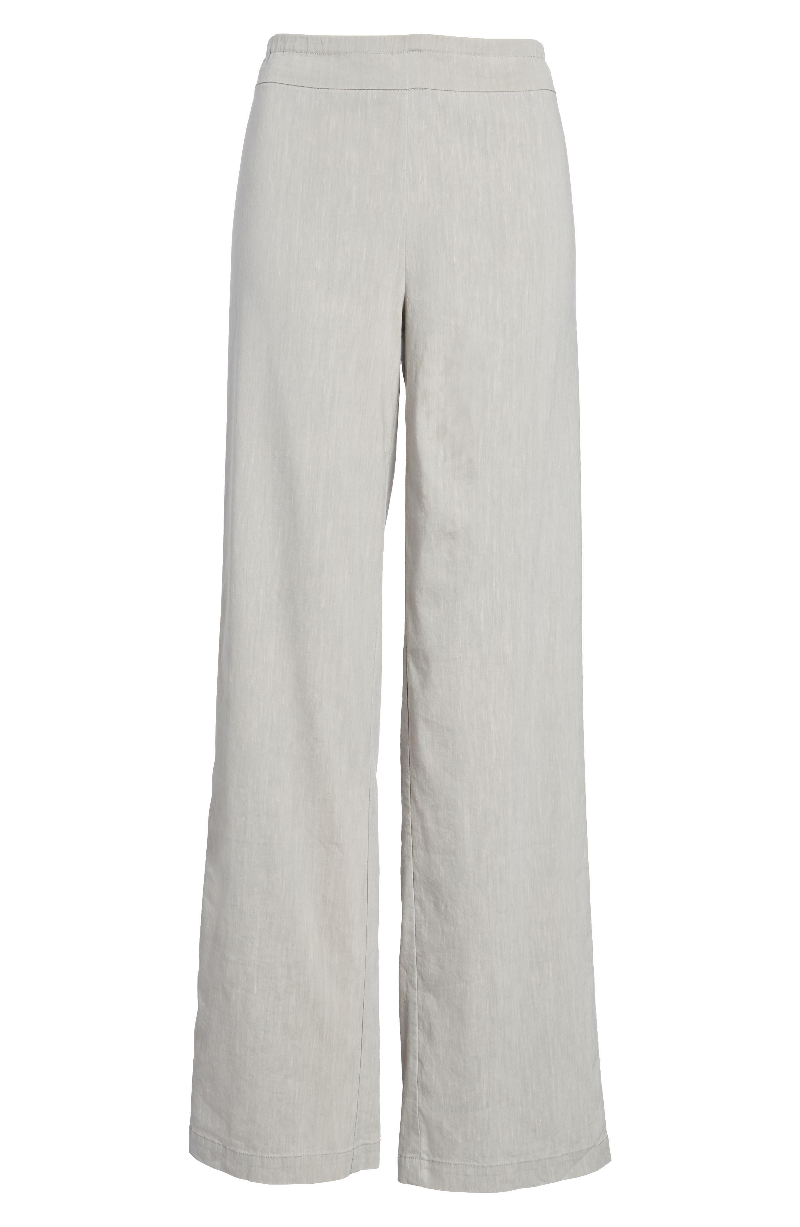 Traveling Linen Blend Stretch Pants,                             Alternate thumbnail 7, color,                             050