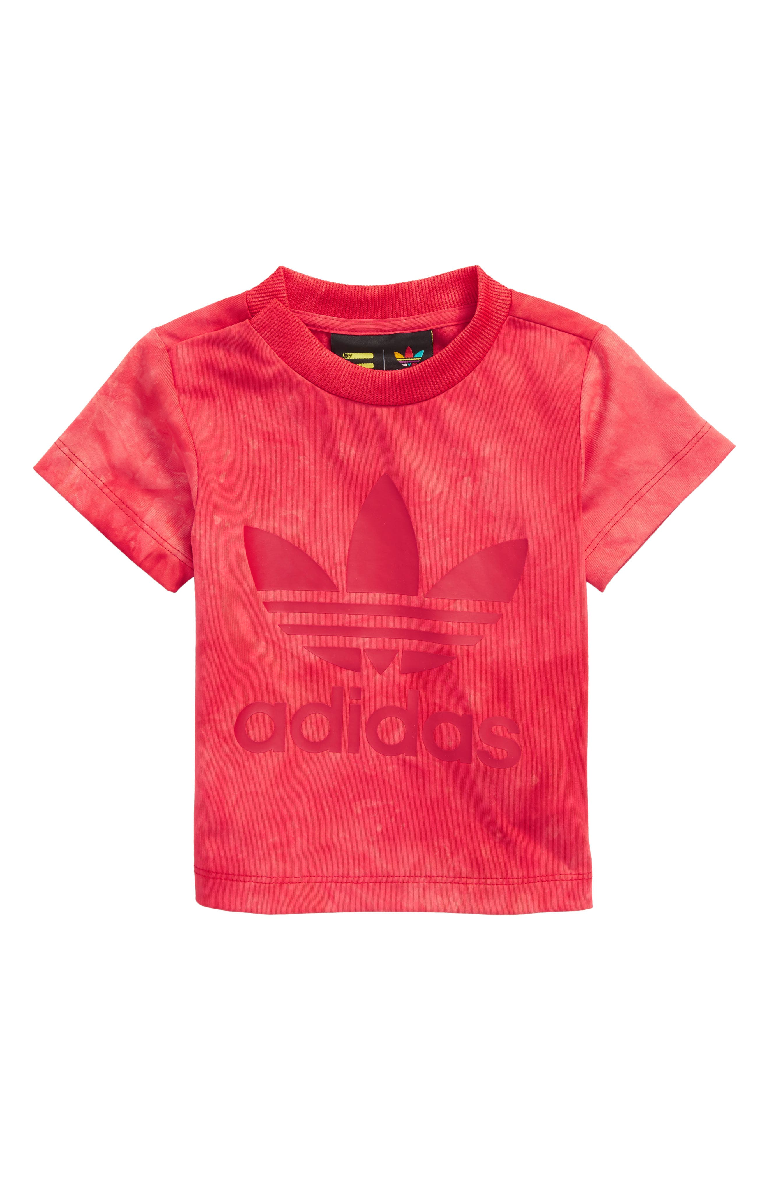 Hu Holi Tee,                             Main thumbnail 1, color,                             SCARLET / WHITE