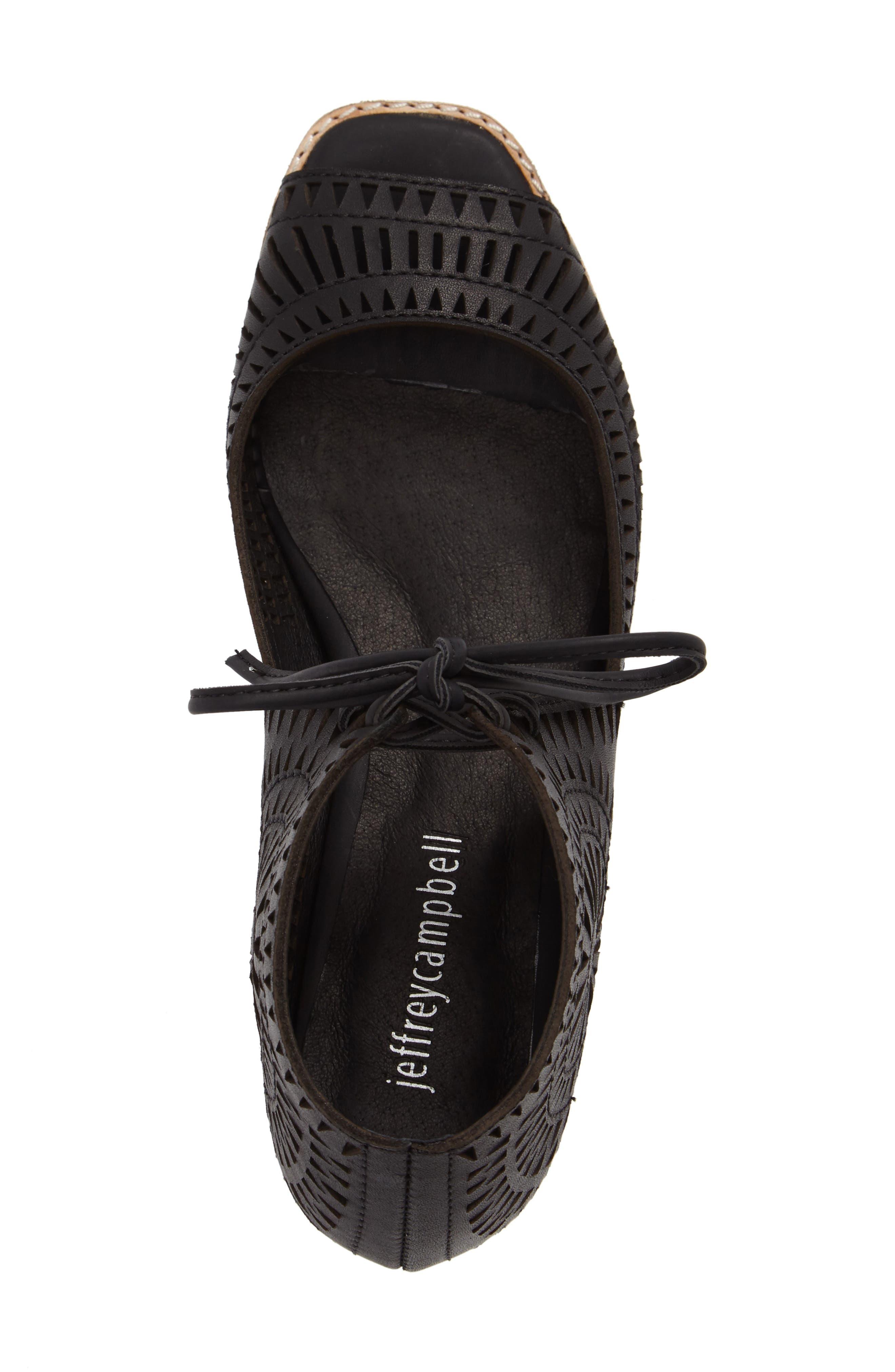 Rayos Perforated Wedge Sandal,                             Alternate thumbnail 5, color,                             001