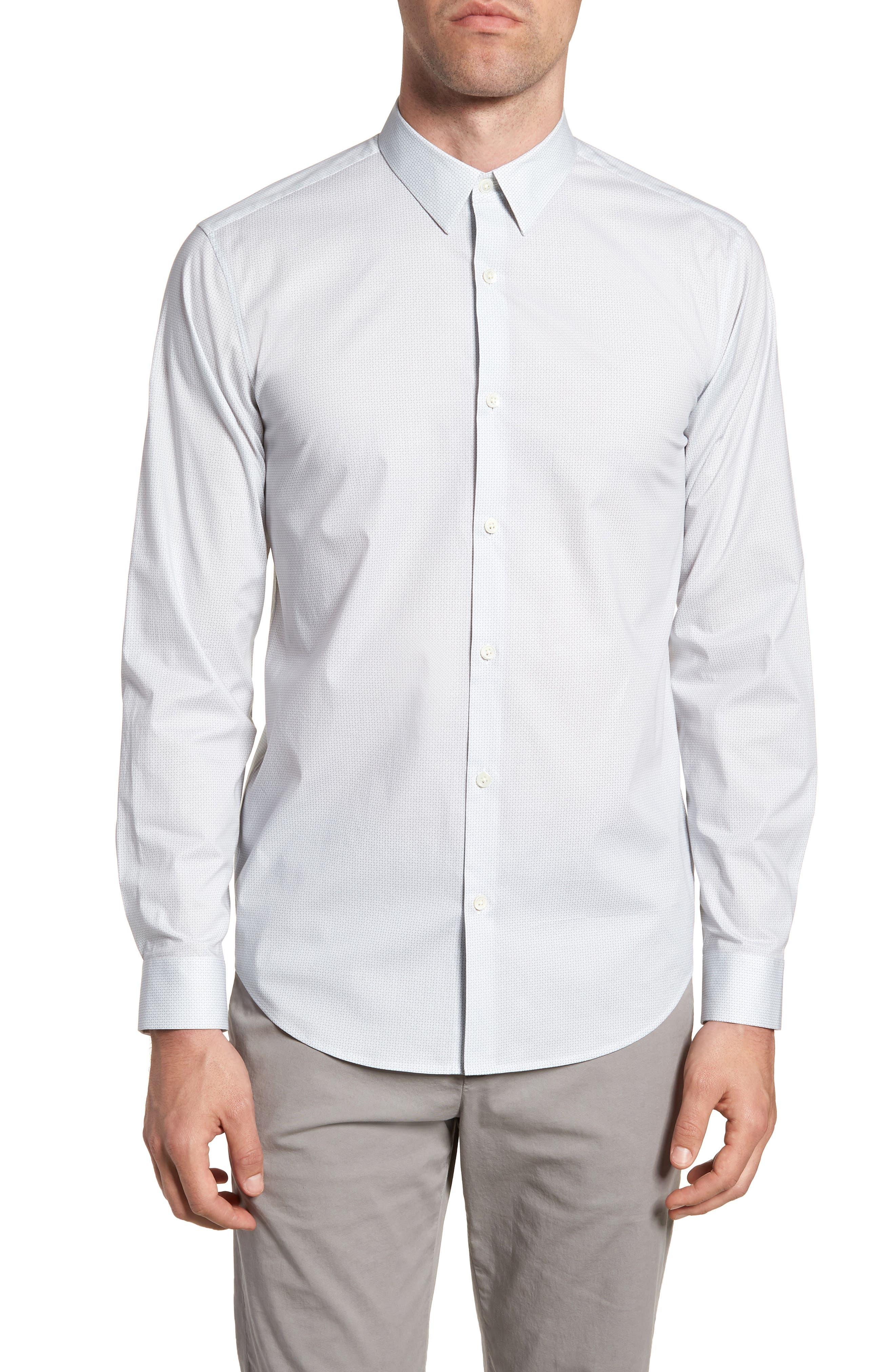 Irving Sillar Slim Fit Sport Shirt,                         Main,                         color, 097