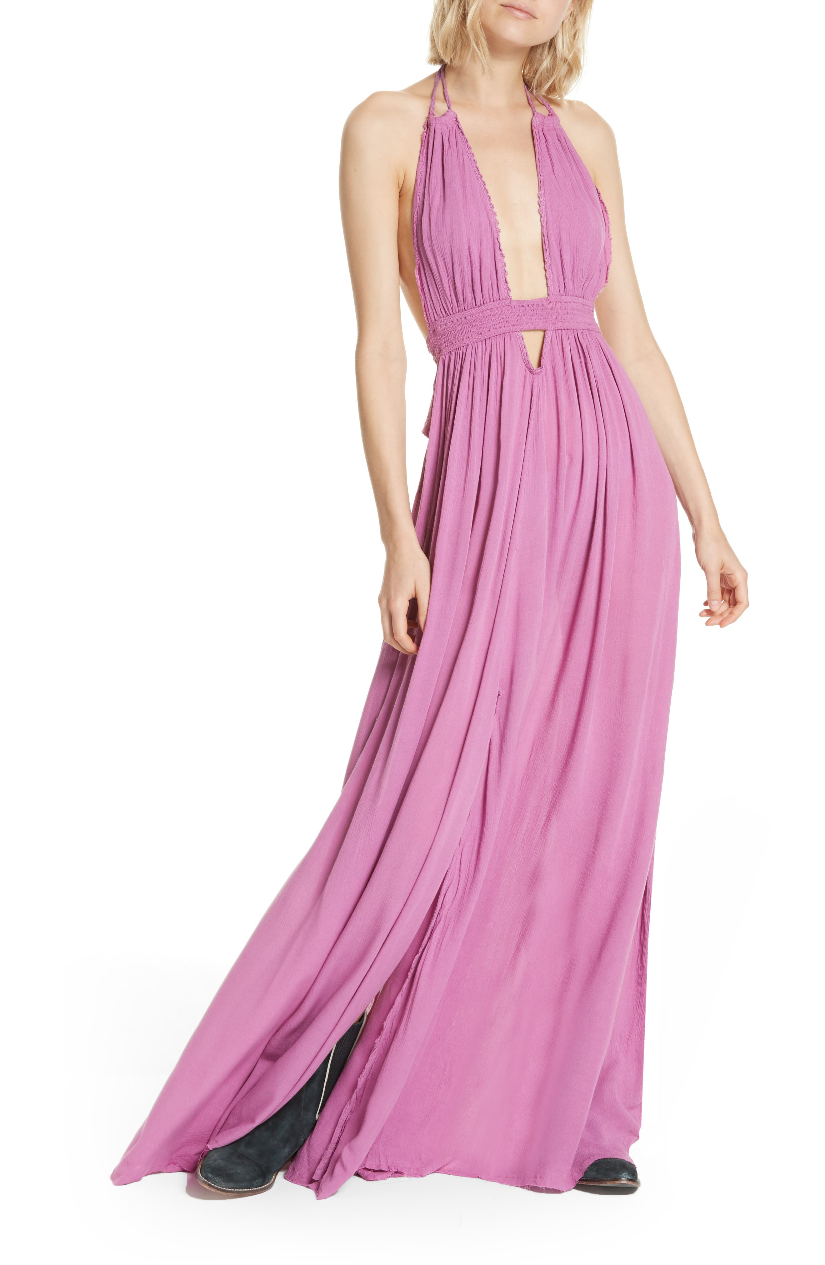 Endless Summer by Free People Look into the Sun Maxi Dress,                         Main,                         color, VIOLET